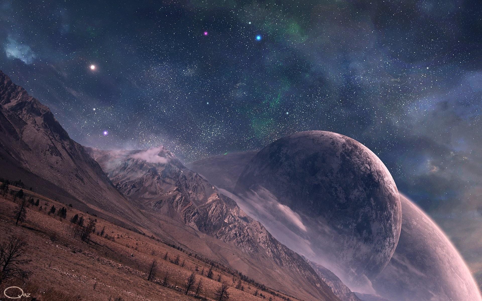 фото галактика фэнтези безмятежность расположенные буквы стене