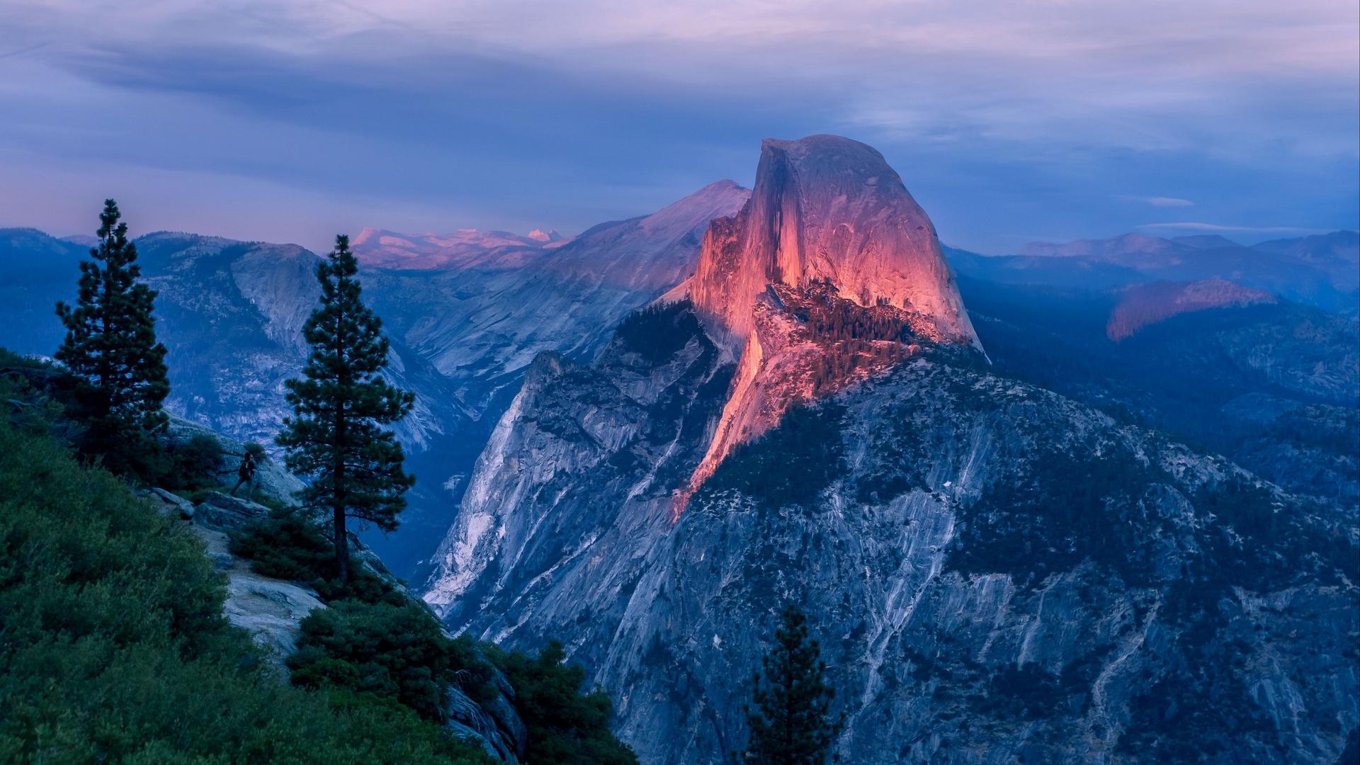 Wallpaper Mountains Peak Sky Yosemite Valley Usa