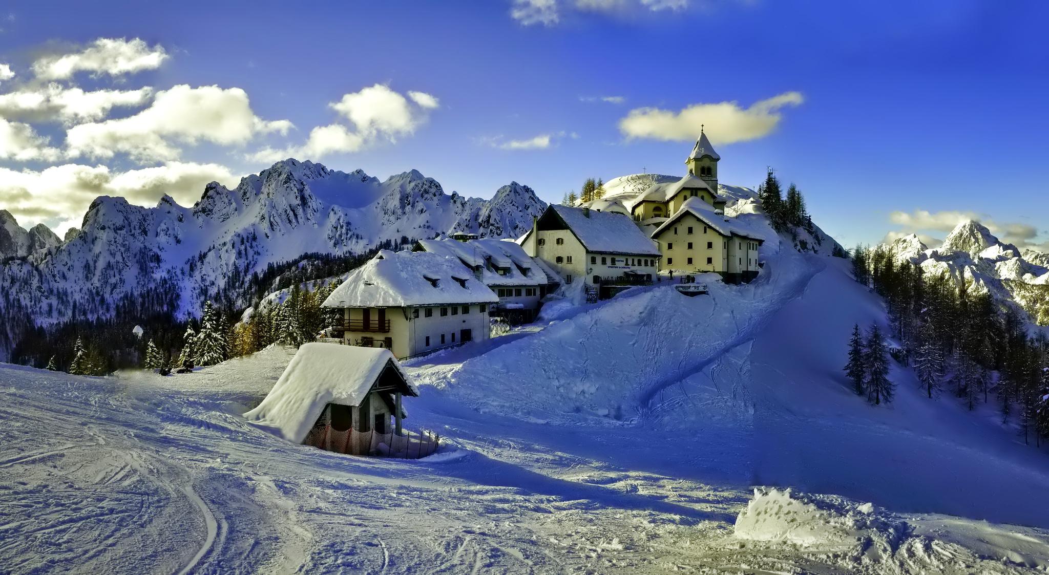 художественные фотографии заснеженных альп сегодняшний день