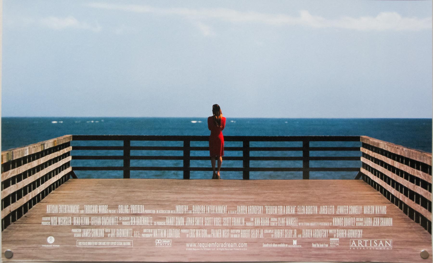 Wallpaper Movie Poster Pier Red Dress Requiem For A Dream