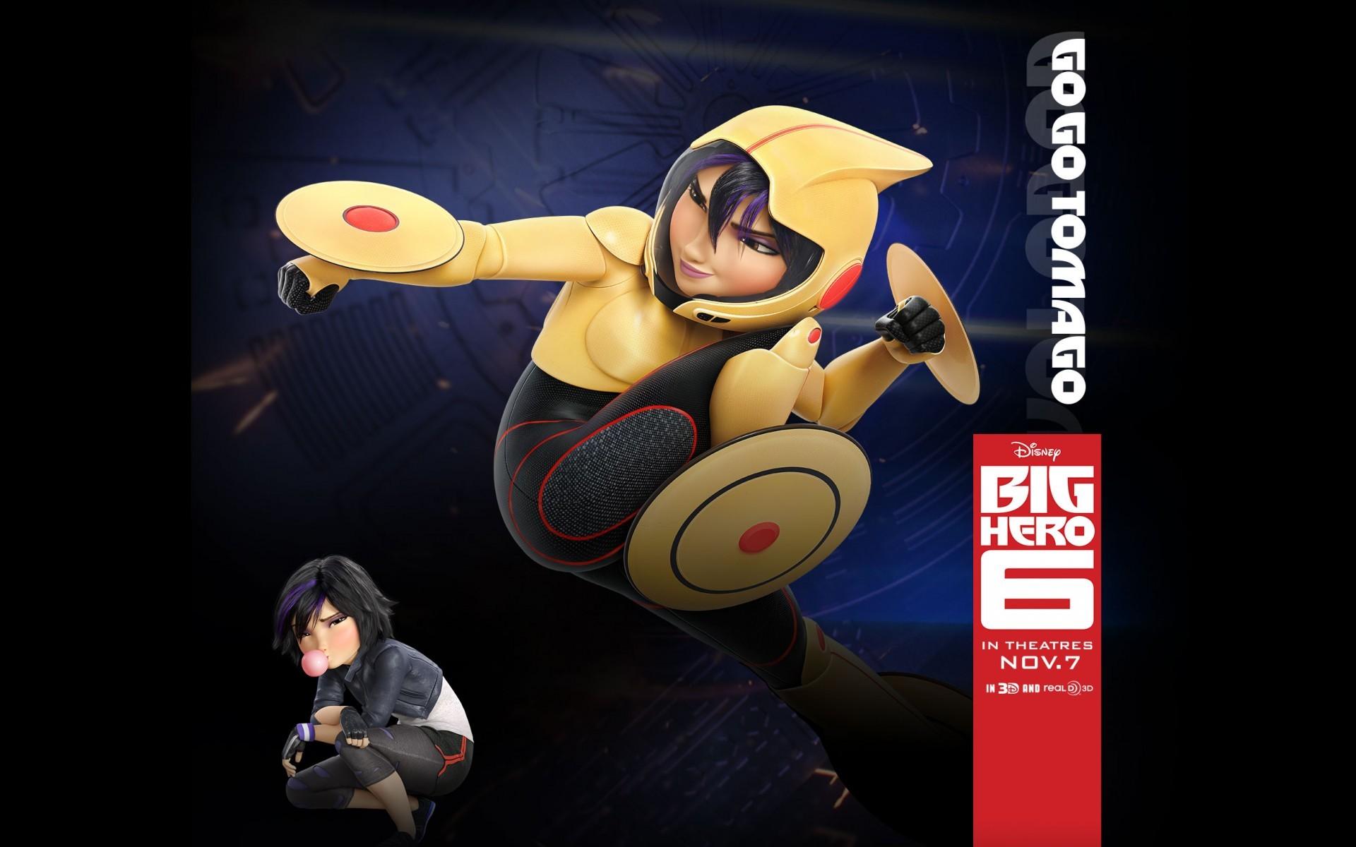 Baymax And Gogo wallpaper : cartoon, superhero, walt disney, big hero 6