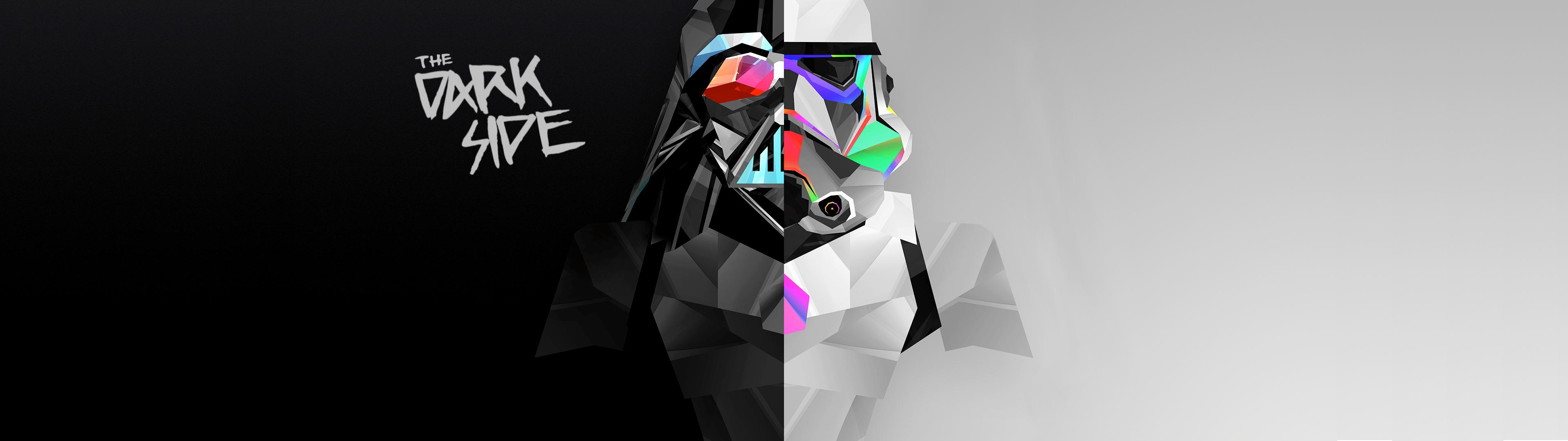 Wallpaper Multiple Display Dual Monitors Abstract Digital Art Stormtrooper Darth Vader Dark Side Star Wars 3840x1080 Velian 1257633 Hd Wallpapers Wallhere