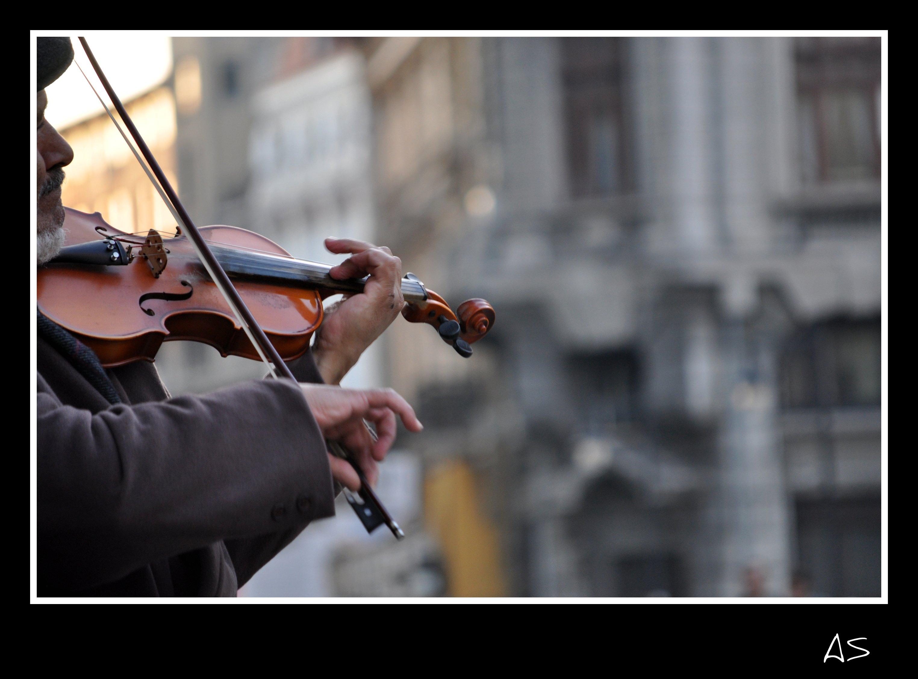 Masaüstü Müzik Büyük Boya Fave Keman Romanya Musika