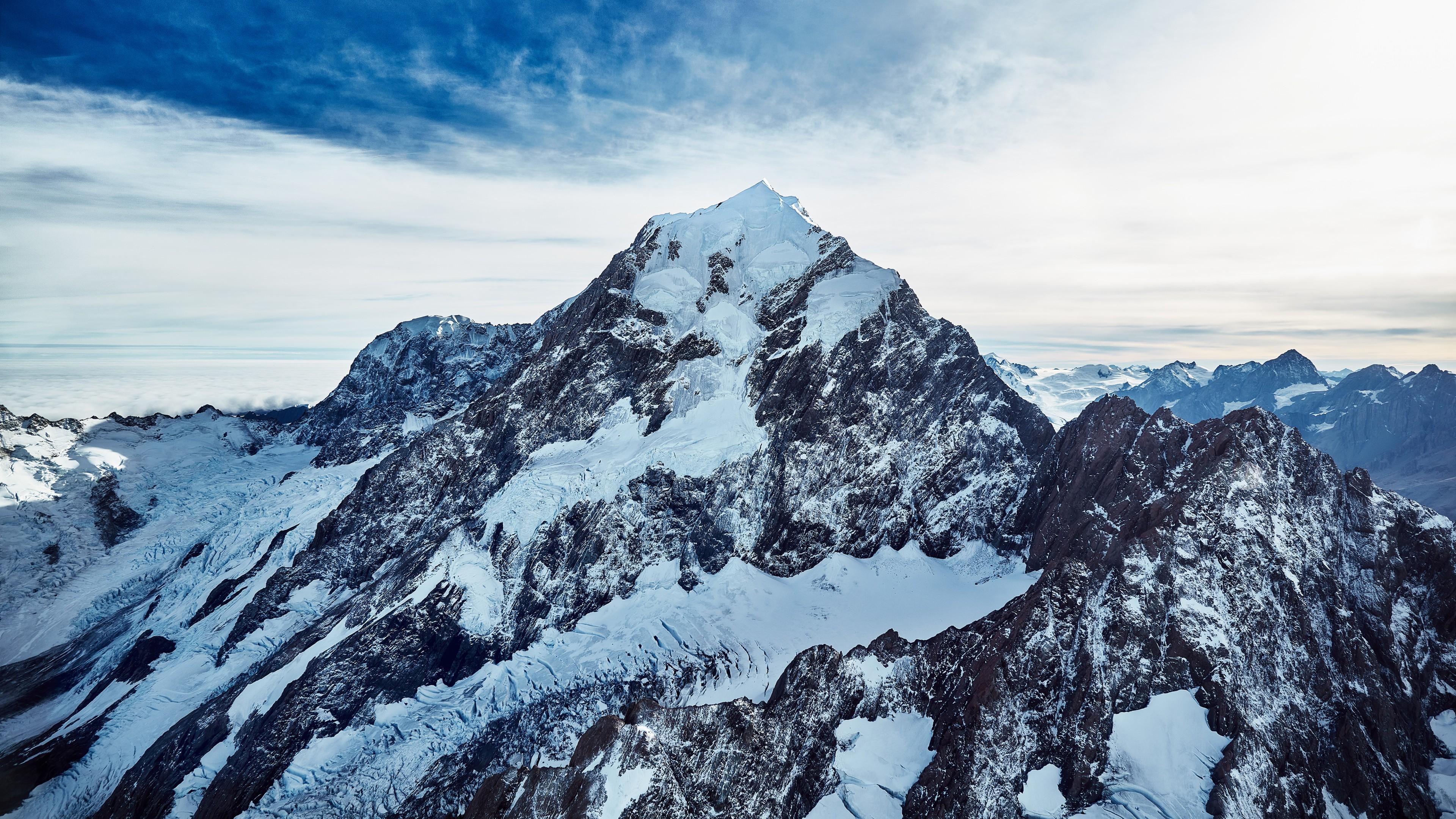 Wallpaper Nature Mountains Snow Snowy Mountain