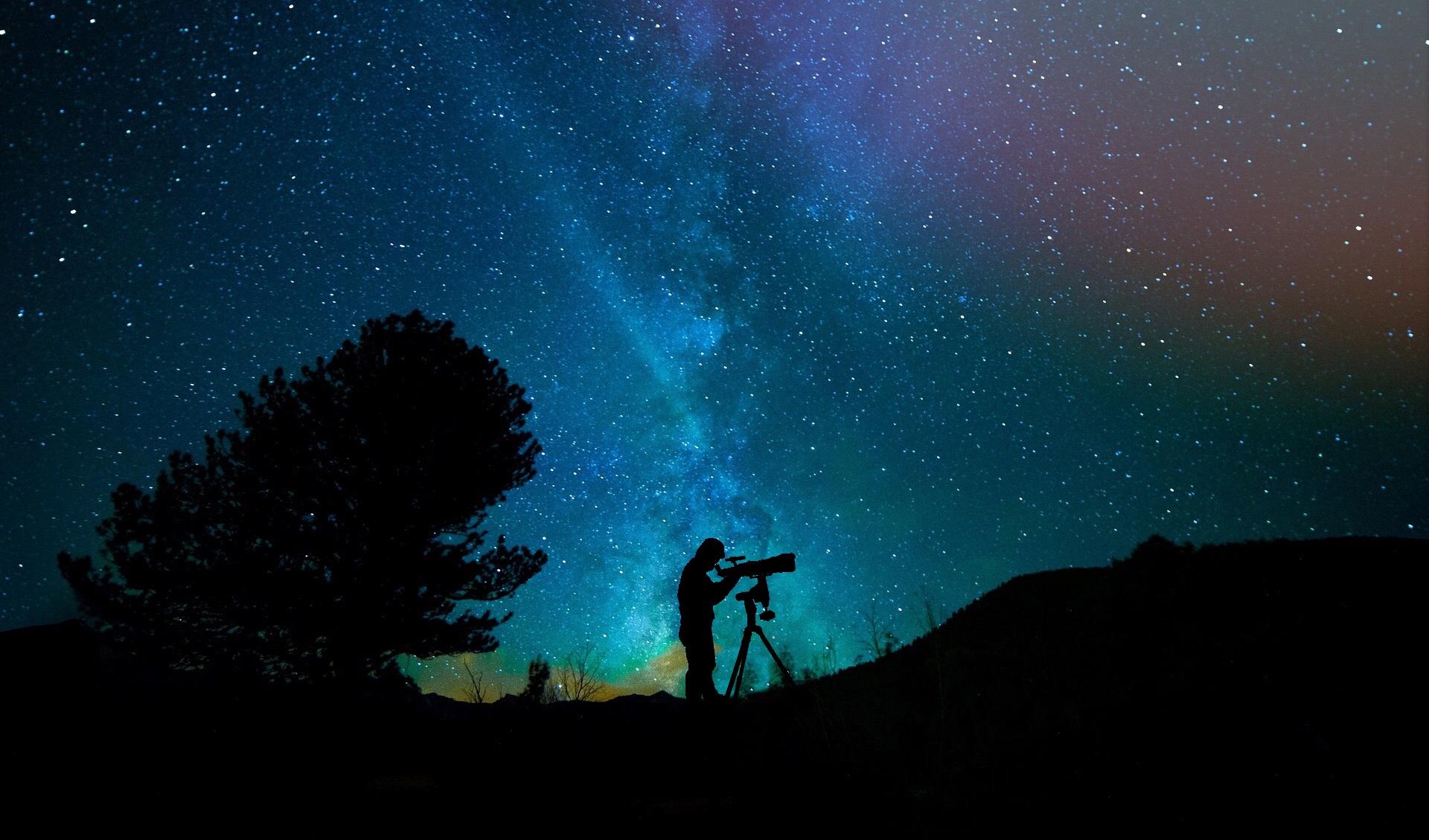 Wallpaper Nature Night Voie Lactee Galaxy Milkyway