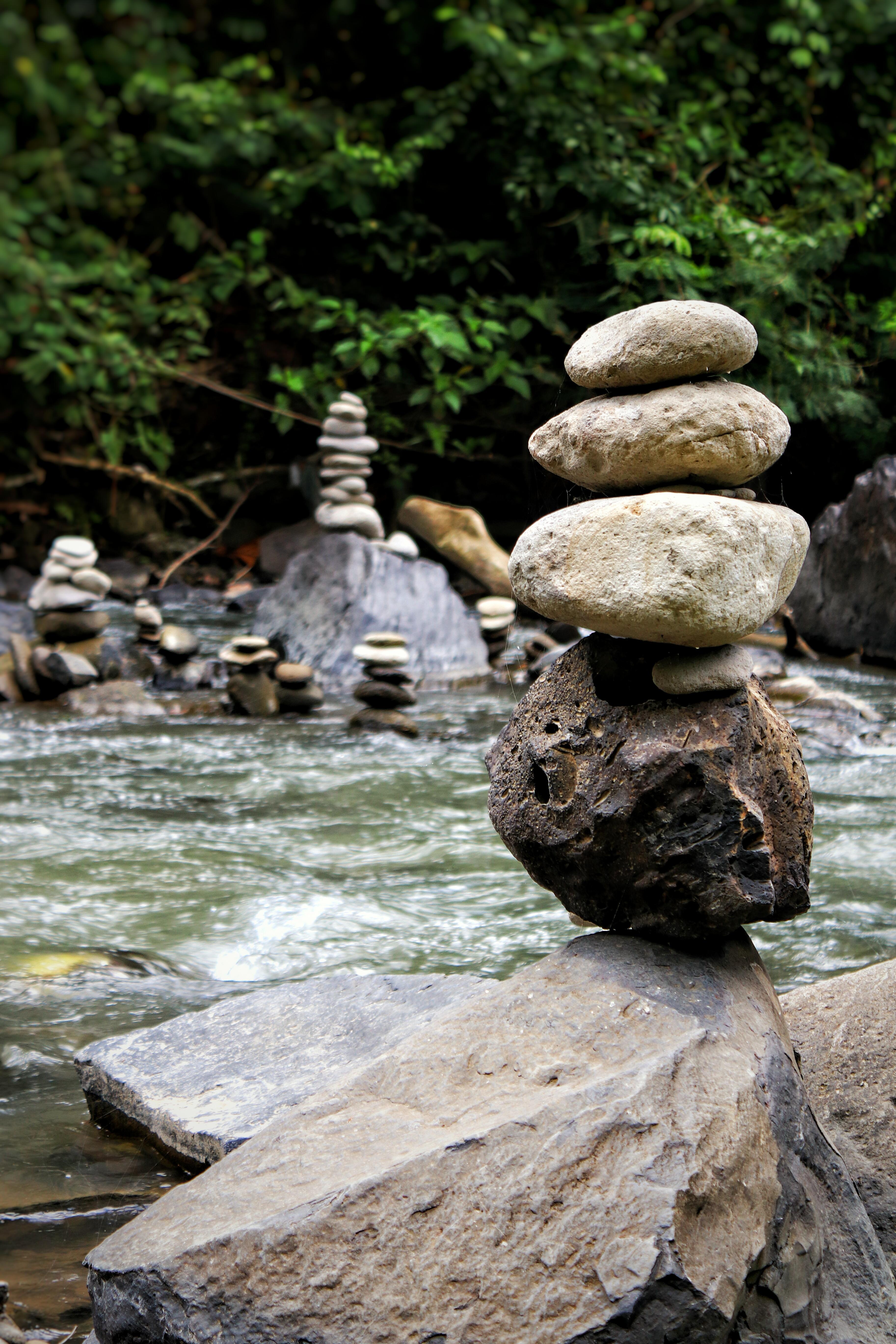 Fond D écran La Nature Rivière Roche Pierre équilibre