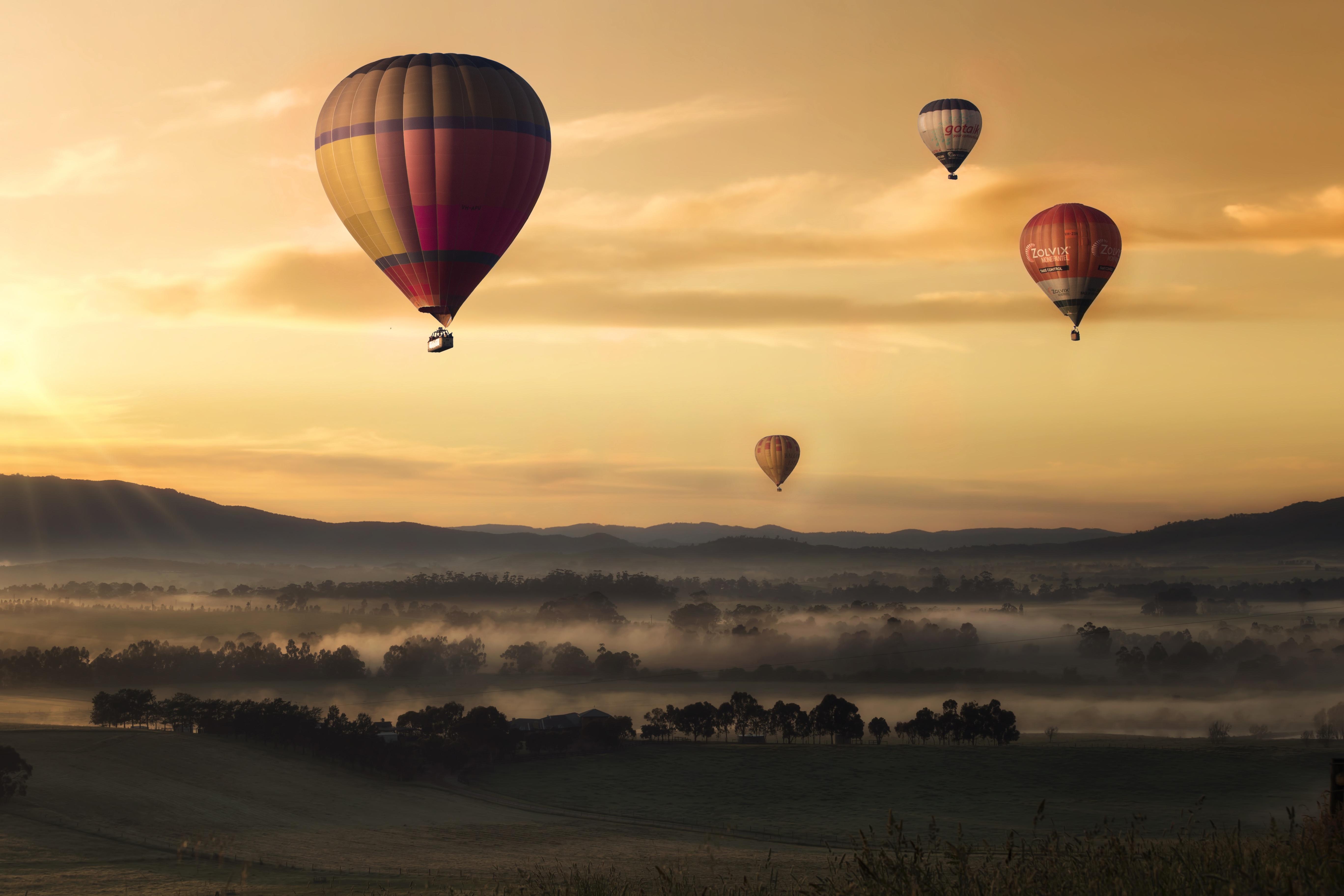 Картинки воздушный шар в небесах