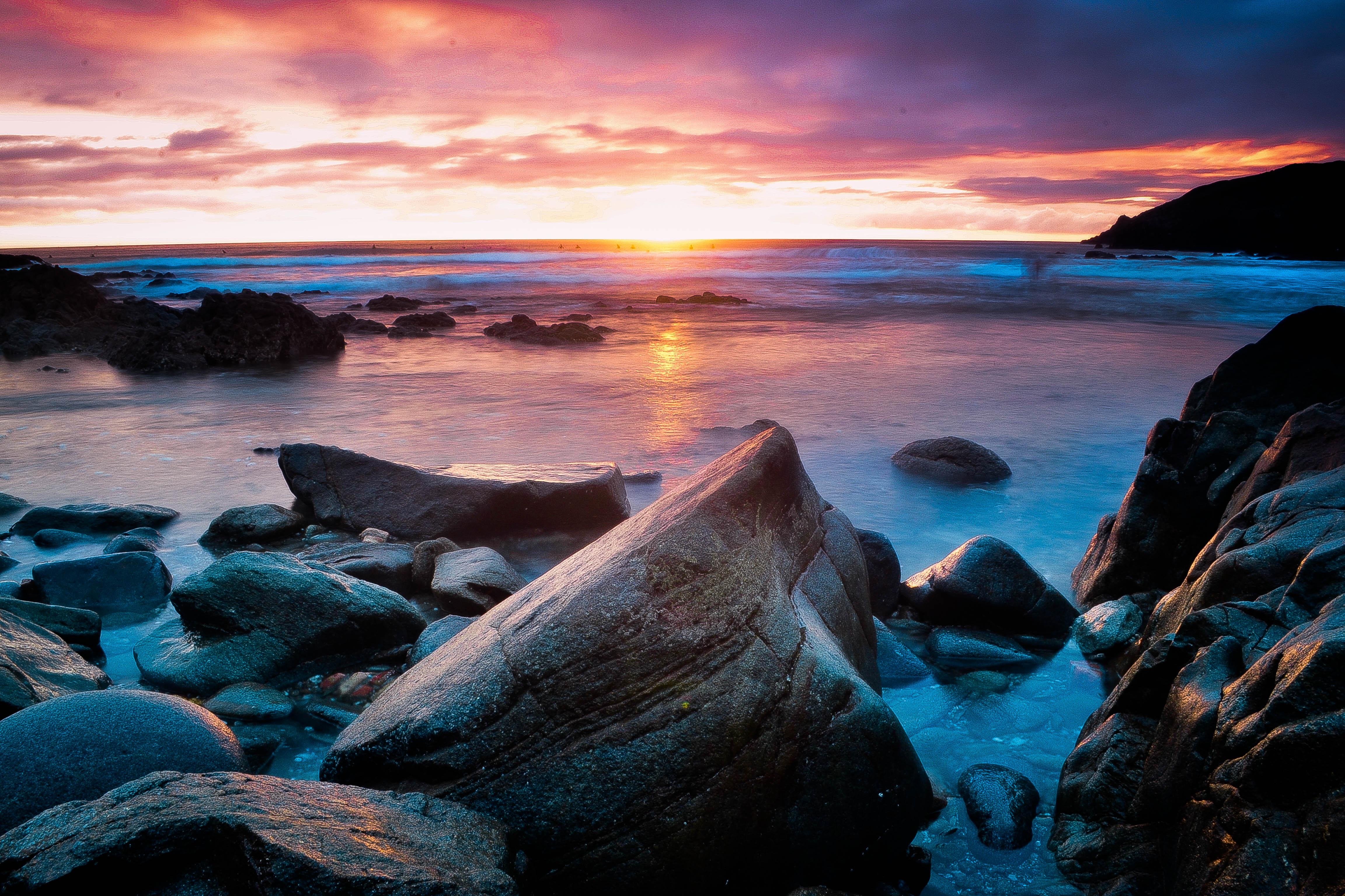 Fond d'écran : la nature, ciel, rive, mer, océan, Roche ...