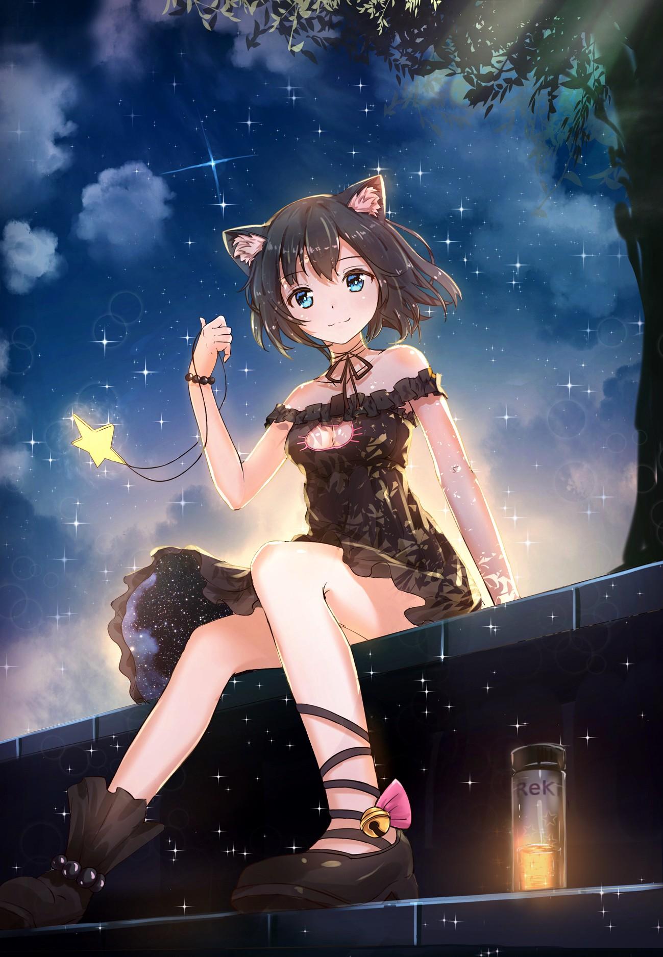 Фото аниме кошки на аву
