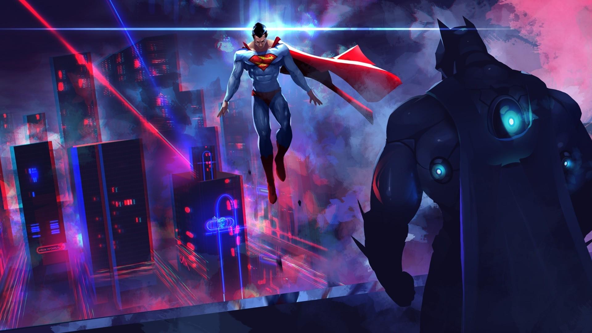 Neon Artwork Batman DC Comics Superman Performance Stage Screenshot Musical Theatre Art