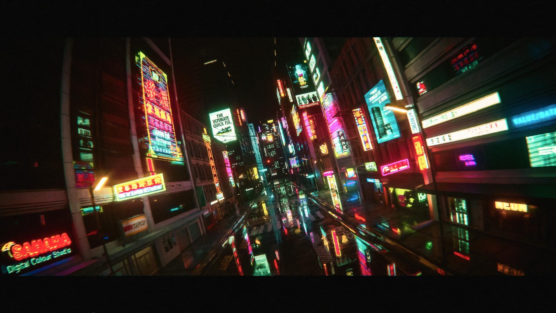 Wallpaper : neon, city, street 1920x1080 - zod000 ...