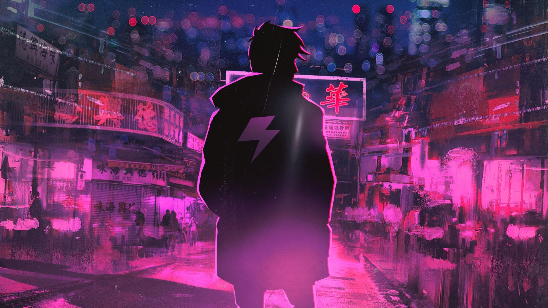 Wallpaper Neon Berwarna Merah Muda Karya Seni Seni Digital Terry Zhong 1920x1080 Wallpapermaniac 1720157 Hd Wallpapers Wallhere