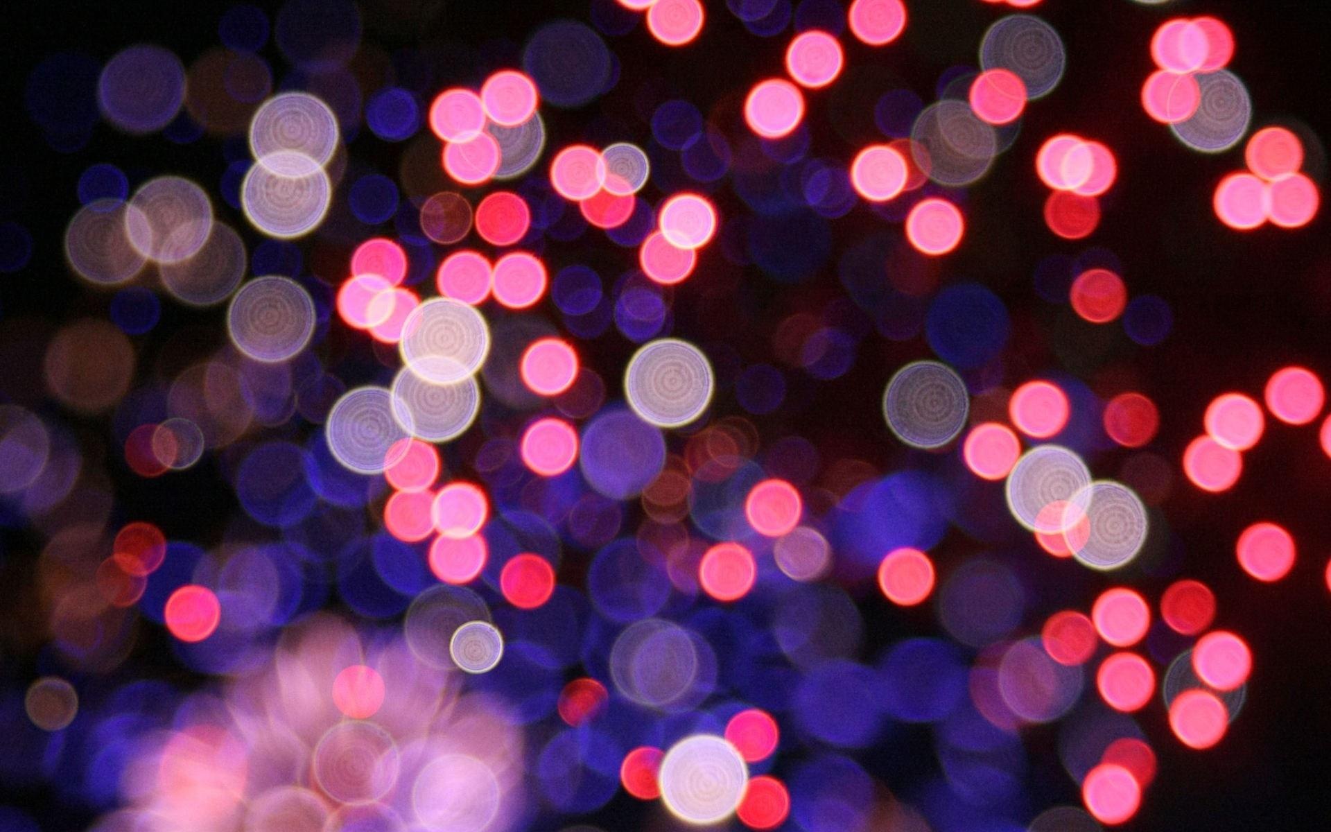 Neon Red Pattern Circle Dots Pink Christmas Lights Highlights Light Color Flower Background Lighting Shape Design