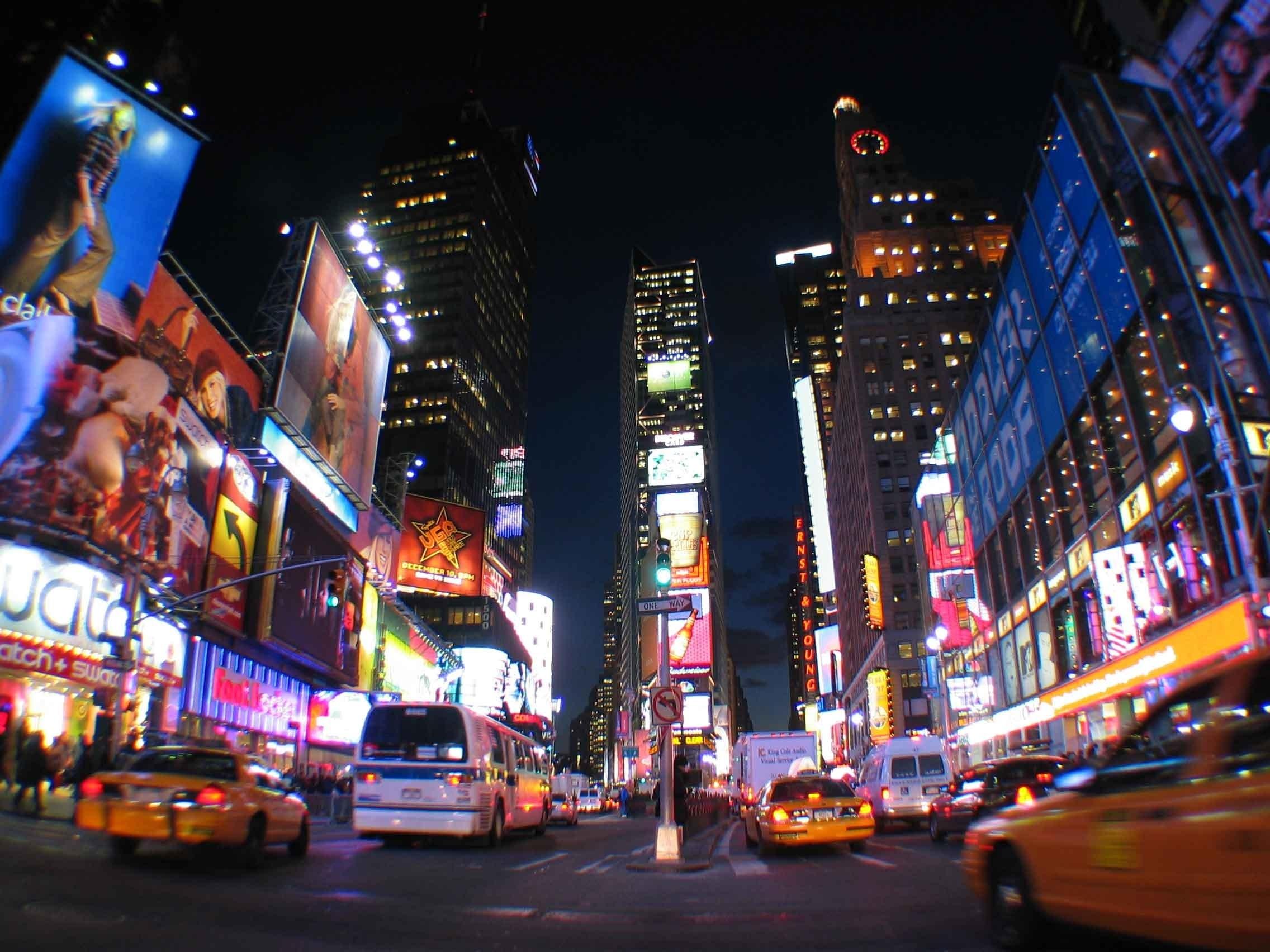 Fondos De Pantalla Nueva York Ciudad Noche Luces Times