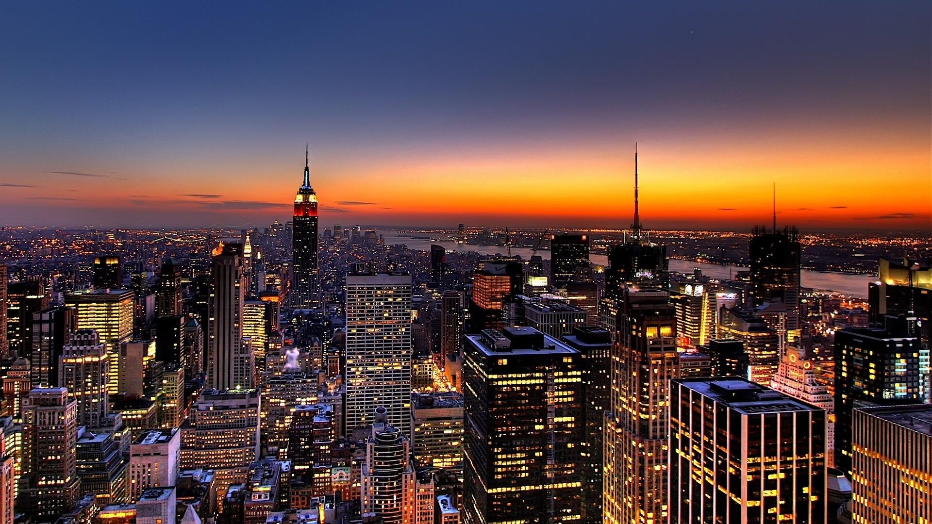 Sfondi New York Notte Grattacieli Vista Dall Alto 1920x1080 4kwallpaper 652590 Sfondi Gratis Wallhere