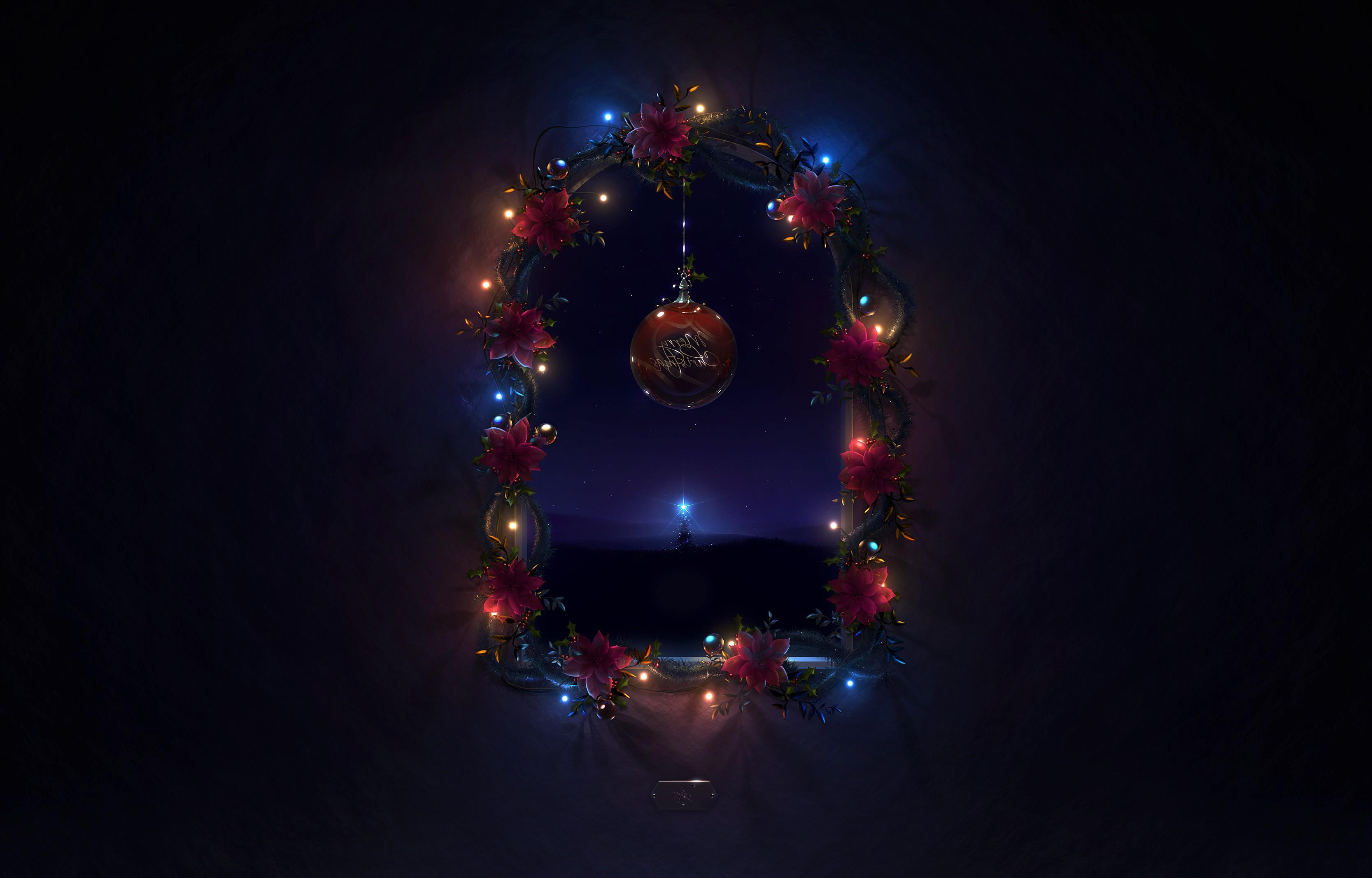 Wallpaper Night Christmas Tree Christmas Lights Event