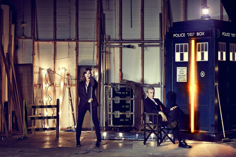 Wallpaper Night Doctor Who Tardis Jenna Louise Coleman The