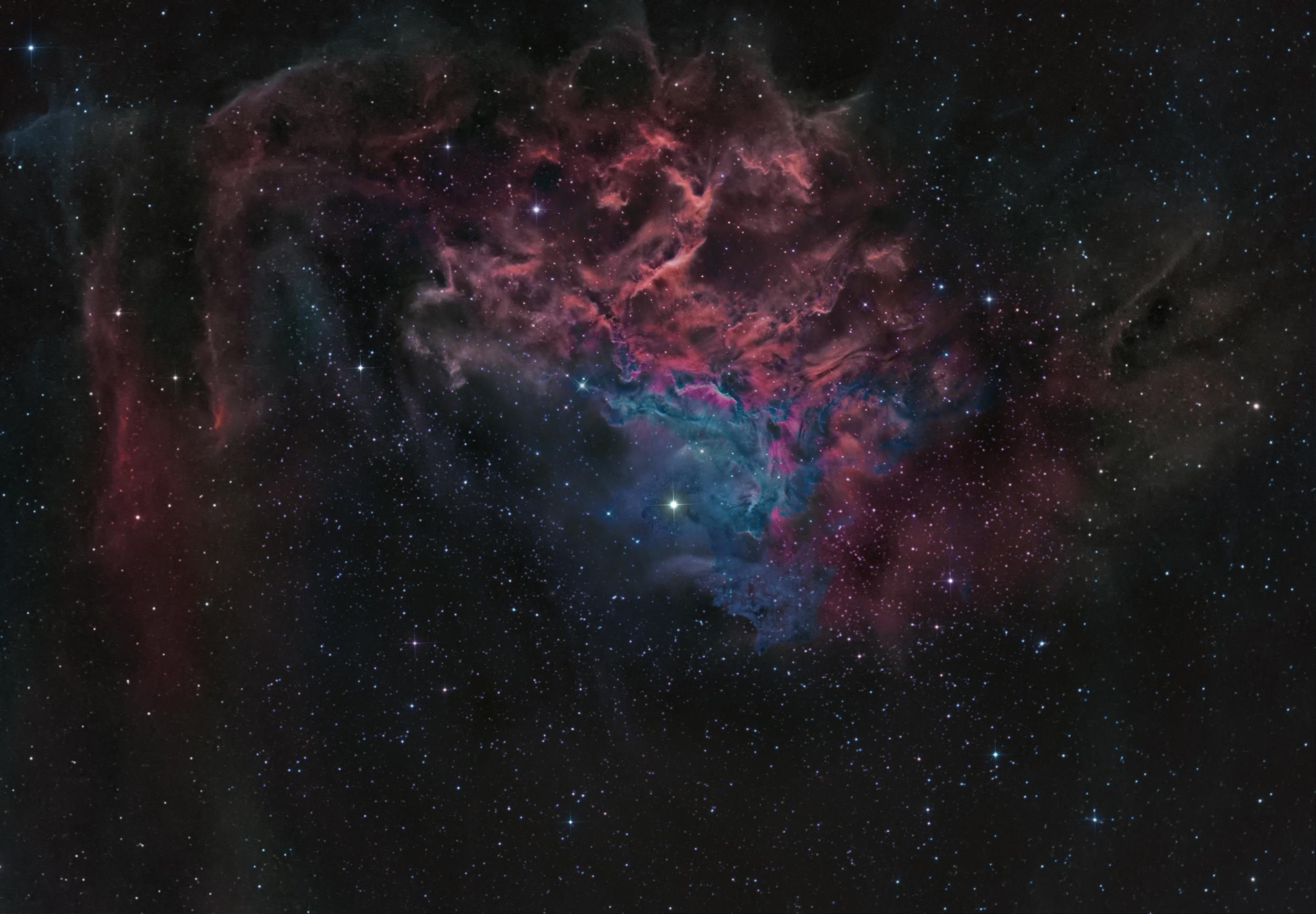 Fondos de pantalla noche abstracto galaxia sombra for Espacio exterior 4k