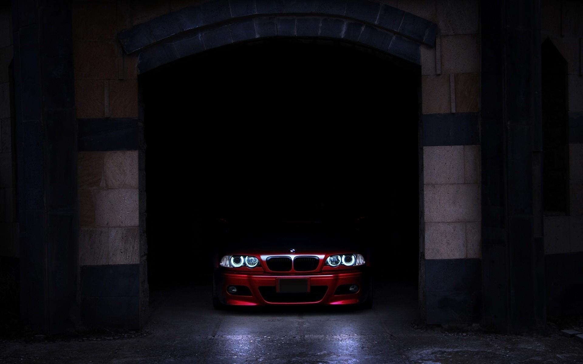 Wallpaper Night Car Shadow Vehicle Bmw E46 Angel Eyes
