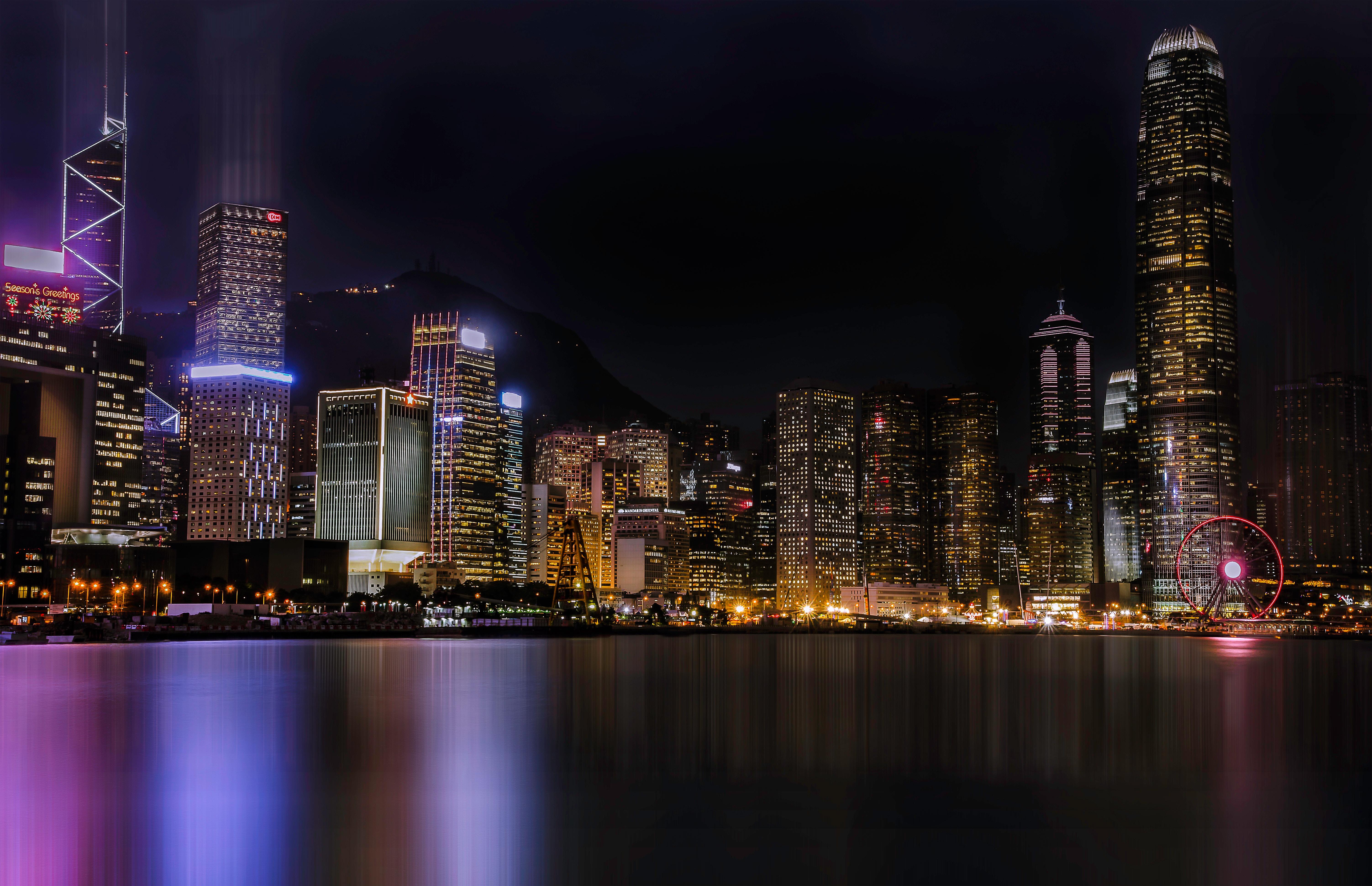 неординарная картинки для рабочего город ночью своих погодных