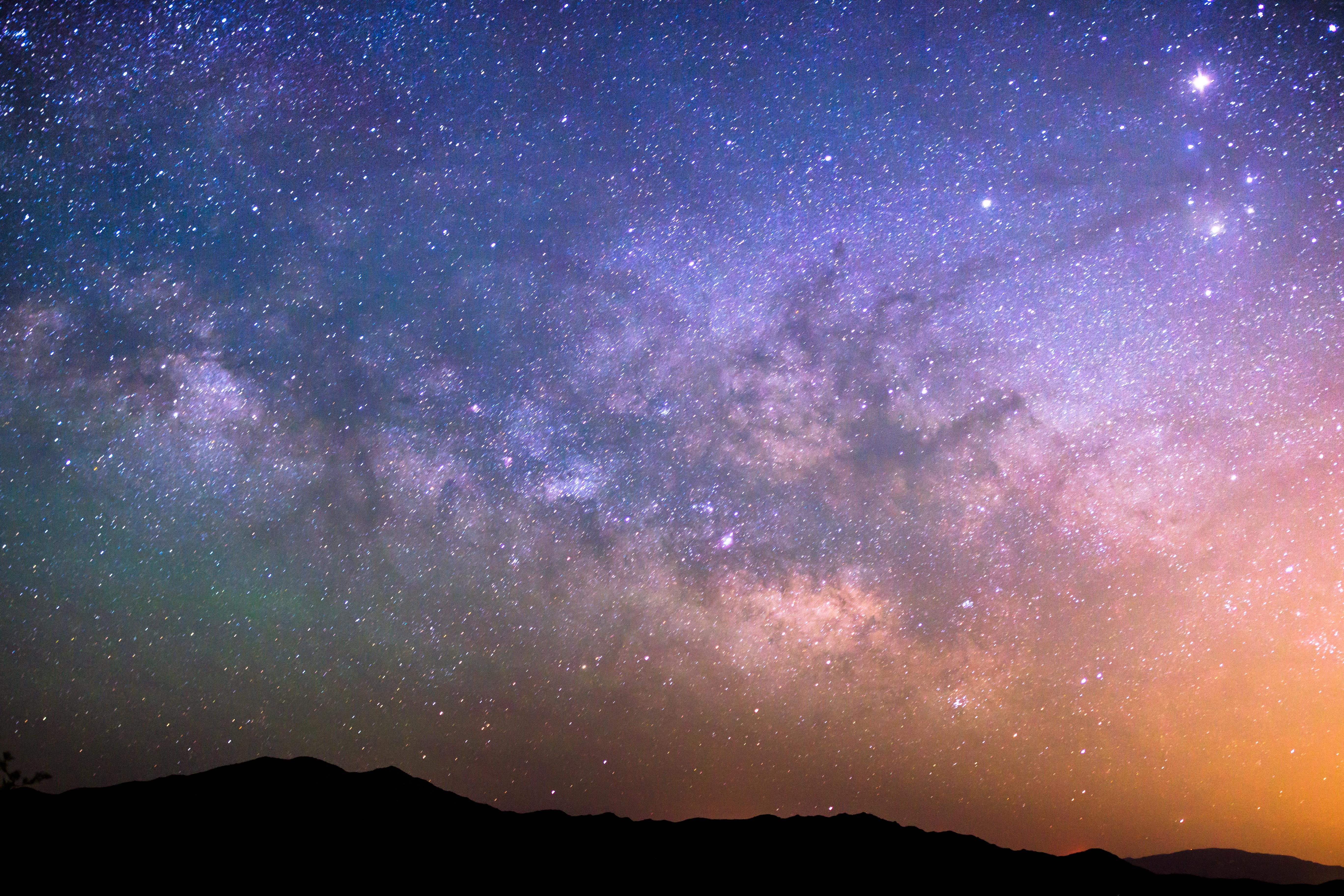 デスクトップ壁紙 自然 スペース 天の川 星雲 キヤノン