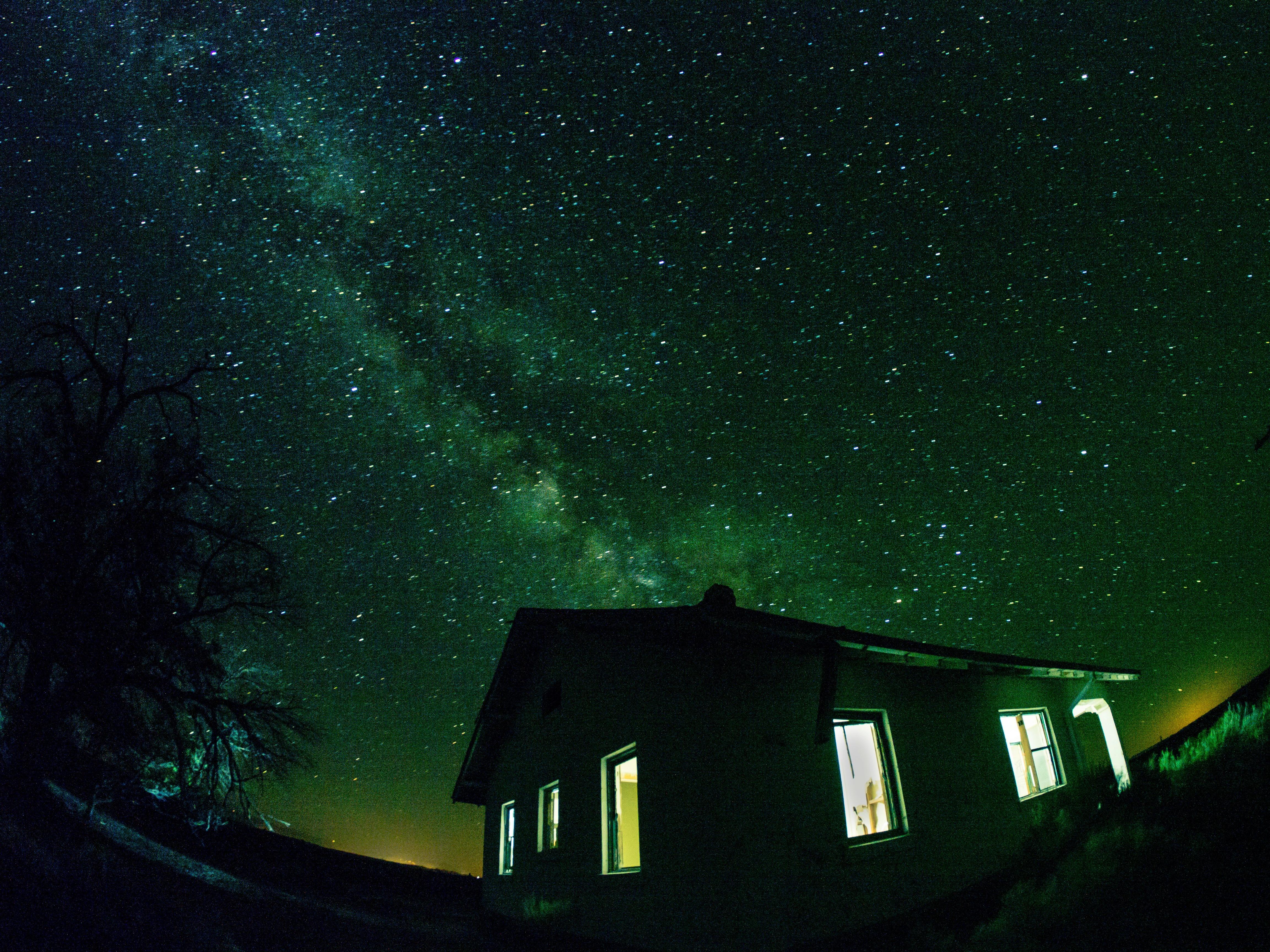 Sfondi Notte Galassia Natura Spazio Cielo Stelle Verde Via