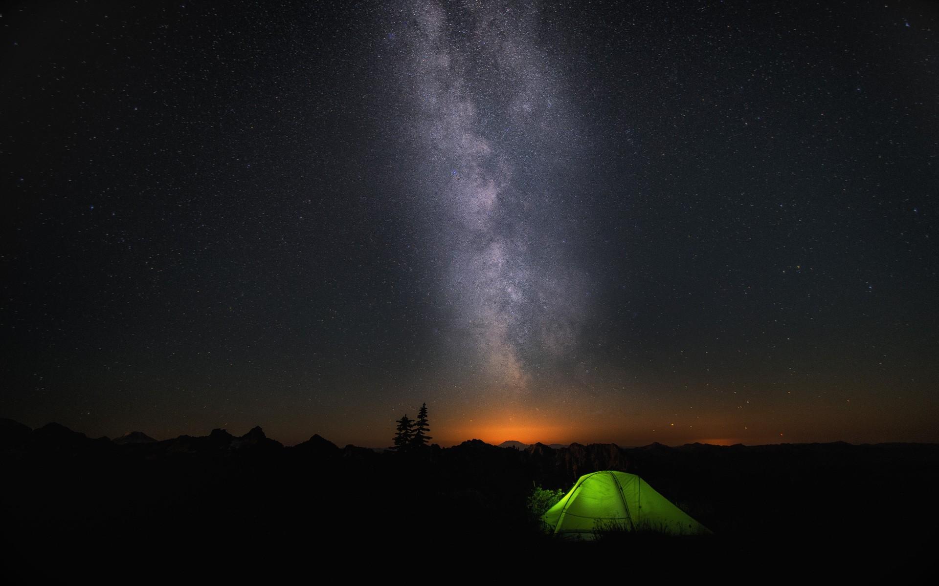 Sfondi Notte Galassia Cielo Atmosfera Tenda Microsoft Windows