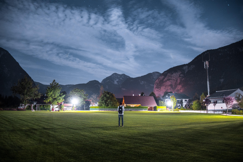 Fondos De Pantalla Noche Césped Fotografía Casa Cielo