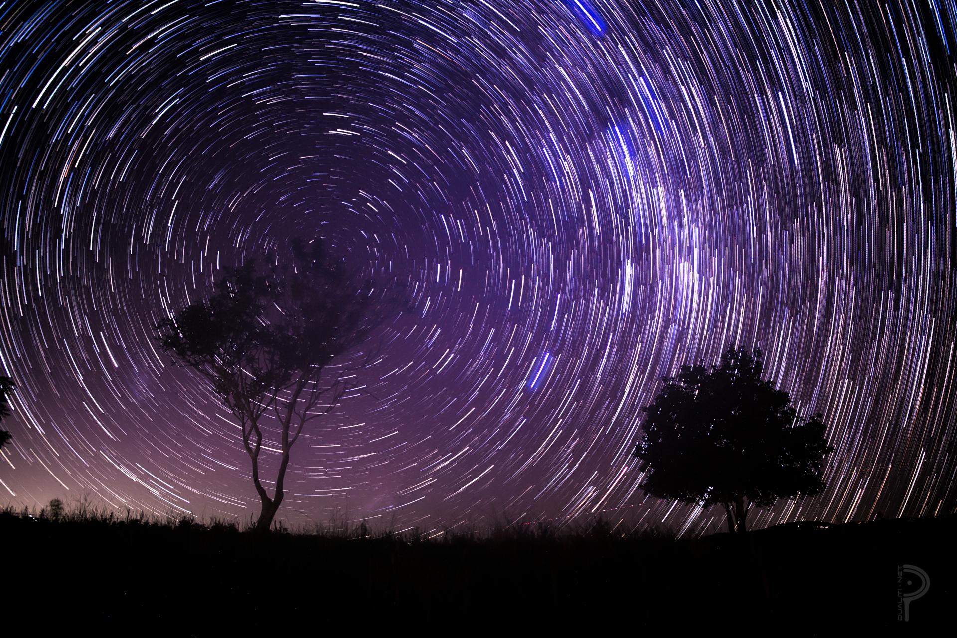 wallpaper : night, hill, sky, purple, silhouette, stars, coast