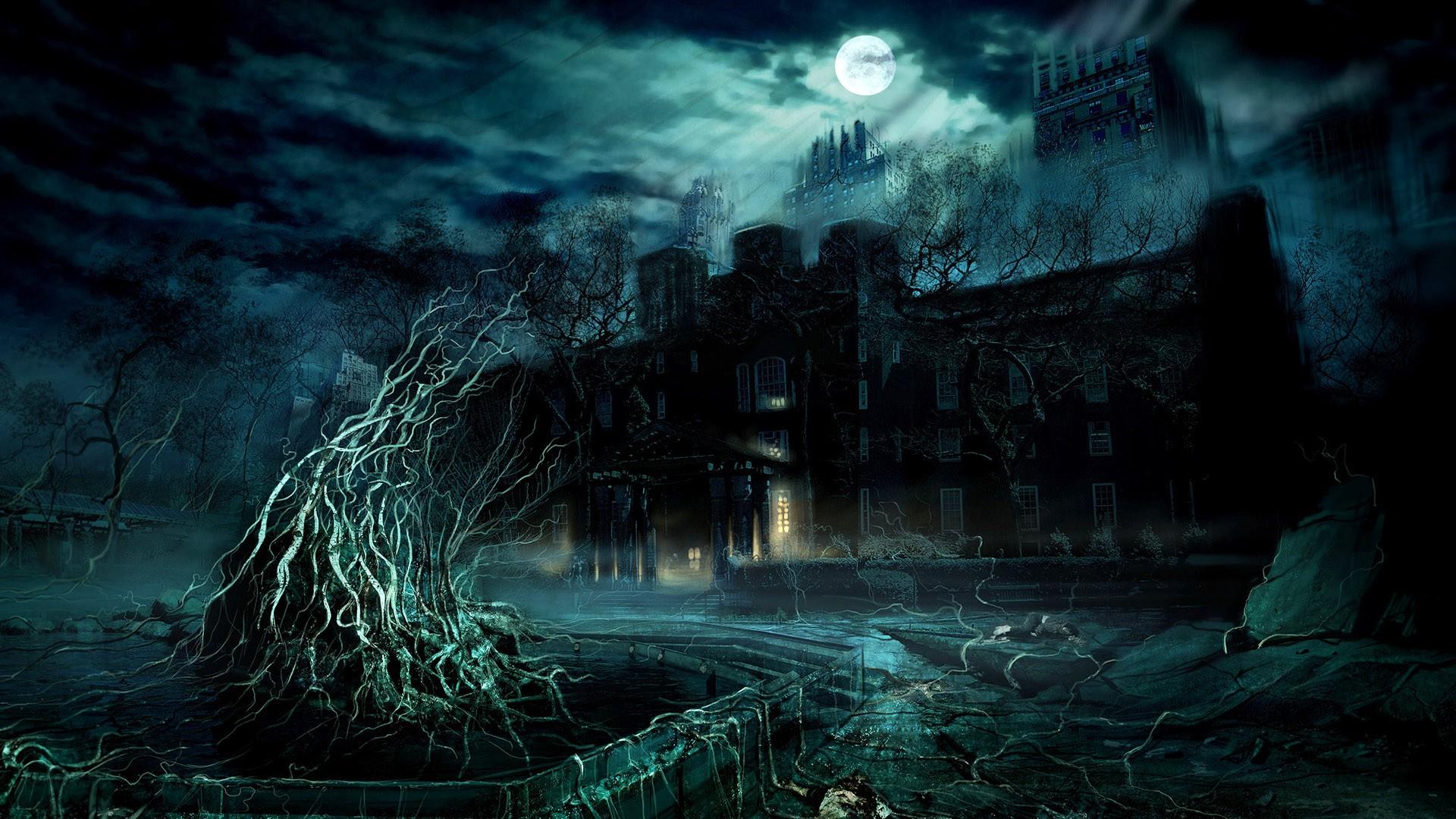 Most Inspiring Wallpaper Night Ghost - night-horror-artwork-Moon-midnight-ghost-ship-chateau-darkness-screenshot-computer-wallpaper-177322  Gallery-78944.jpg