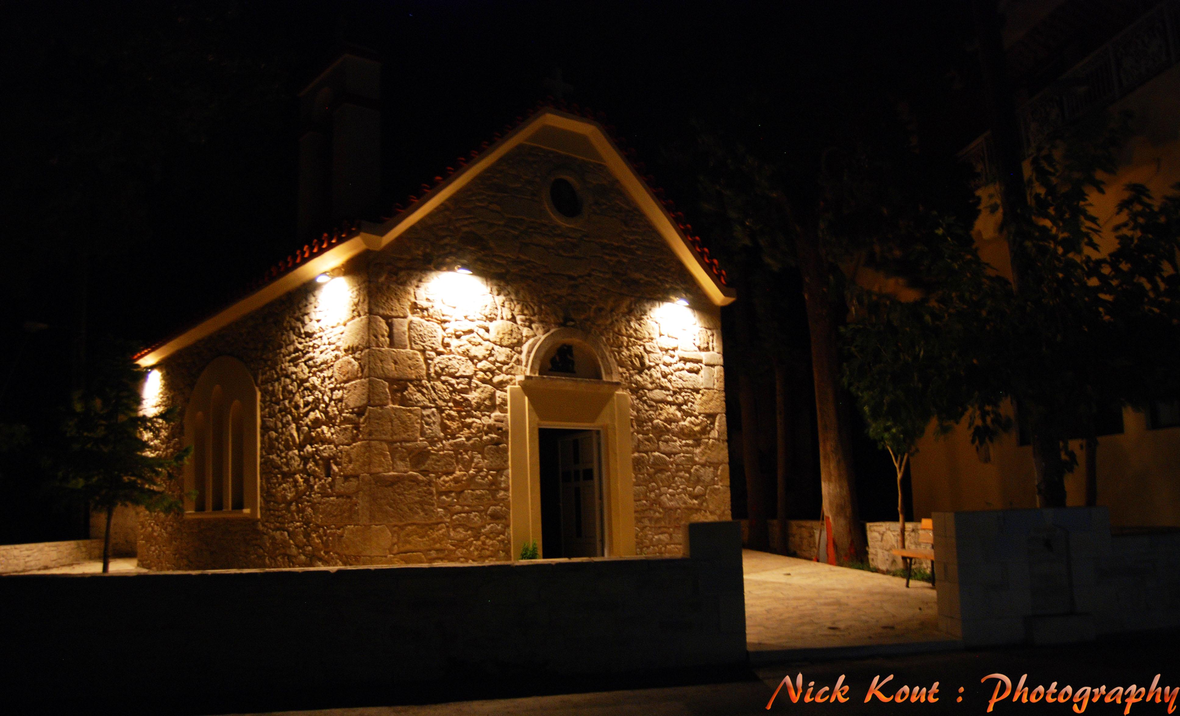 Sfondi : notte casa sera grecia nikon chiesa religione