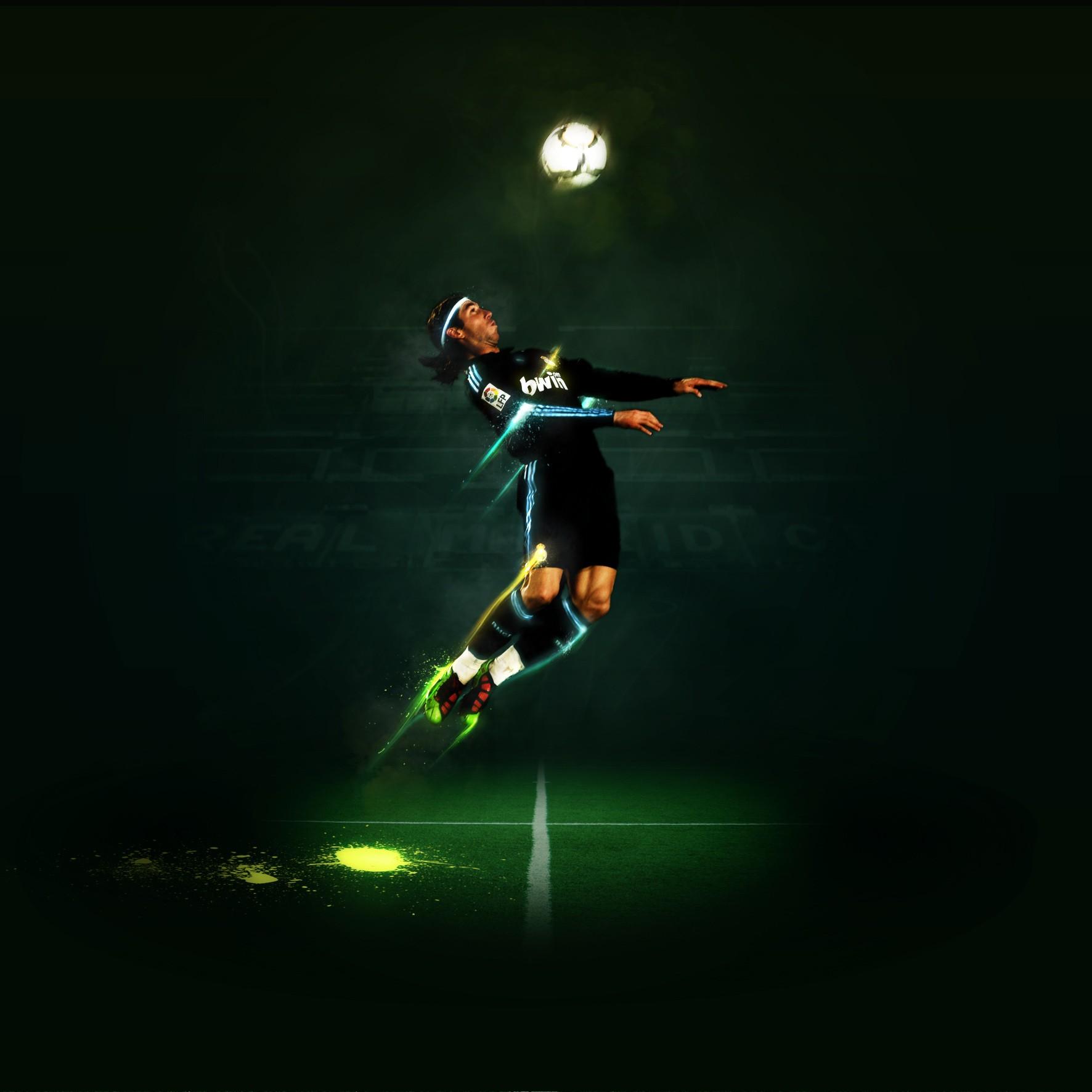 Wallpaper : night, jumping, green, stadium, soccer pitches