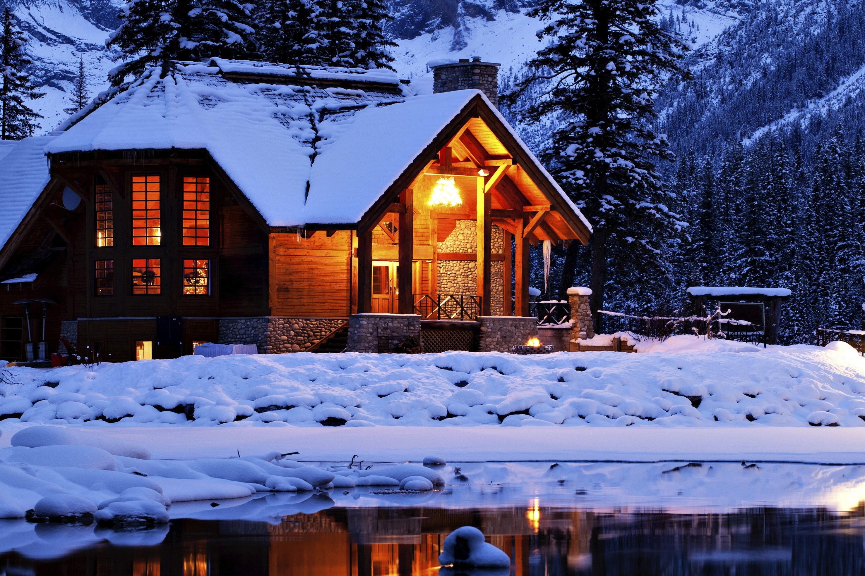 родители фото домик под снегом друзья все родные