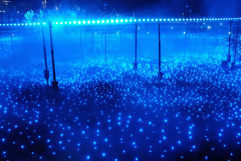 デスクトップ壁紙 夜 反射 青 東京 クロム フジフィルム 光
