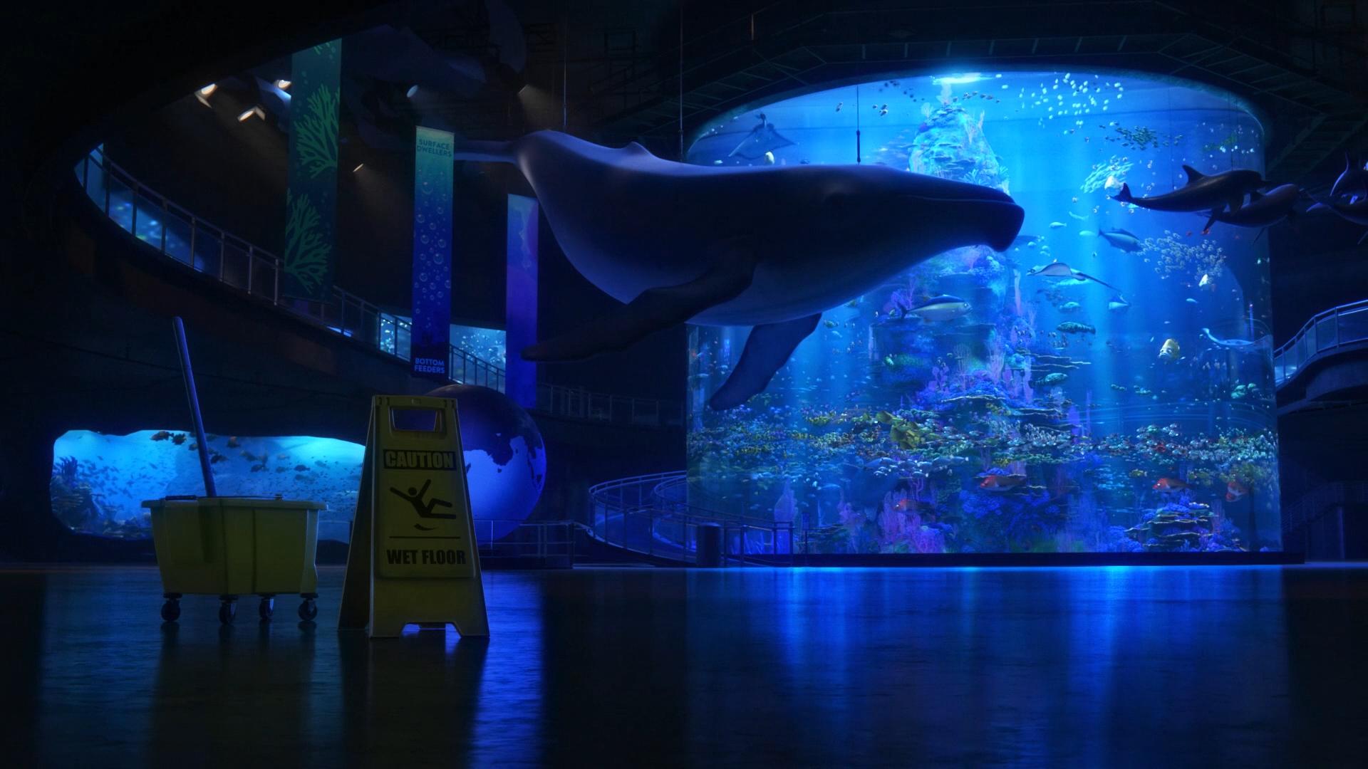 обои ночь размышления кино синий подводный