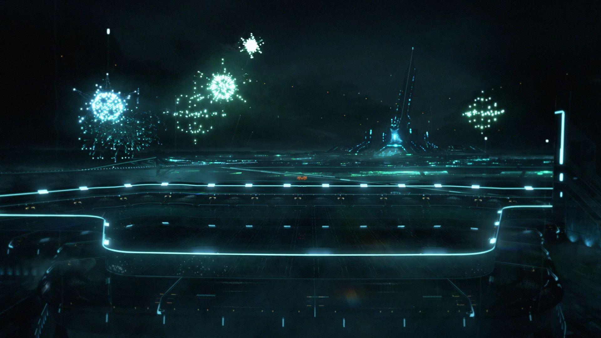 Wallpaper Night Reflection Movies Midnight Tron Legacy