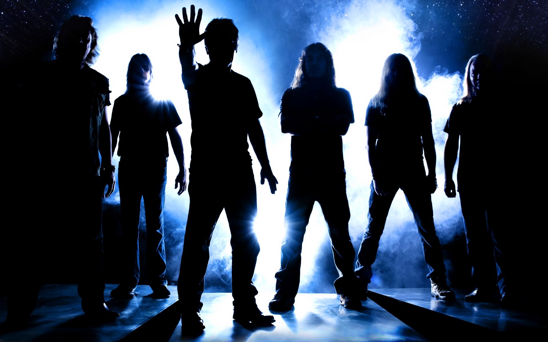 Wallpaper : night, shadow, silhouette, band, Iron Maiden ... - photo#33
