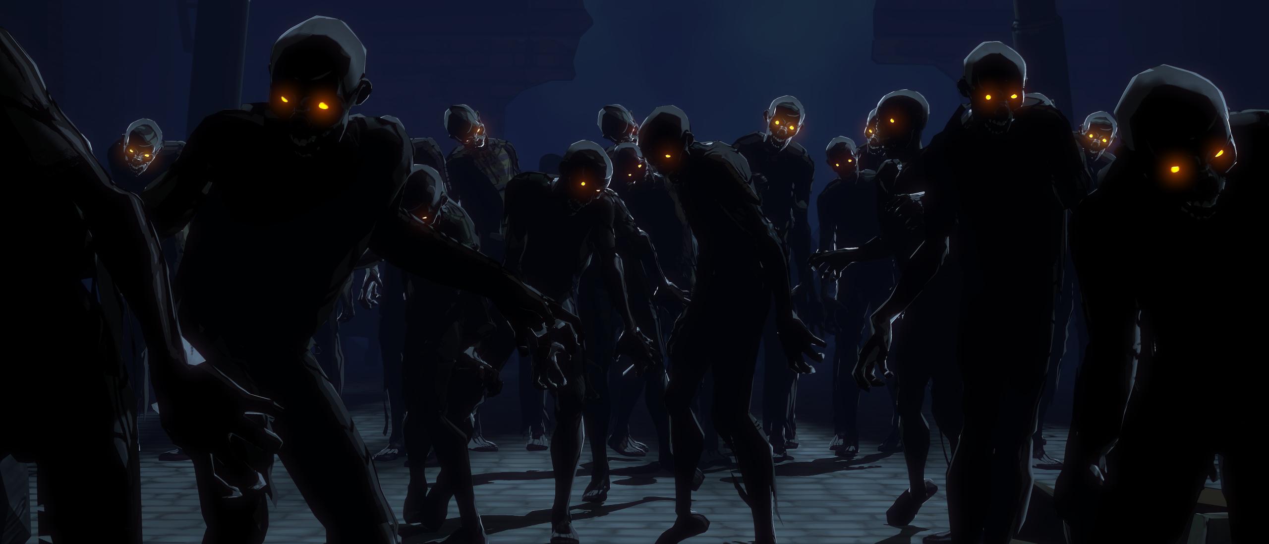 Sfondi : notte cielo cartone animato zombie mezzanotte yaiba