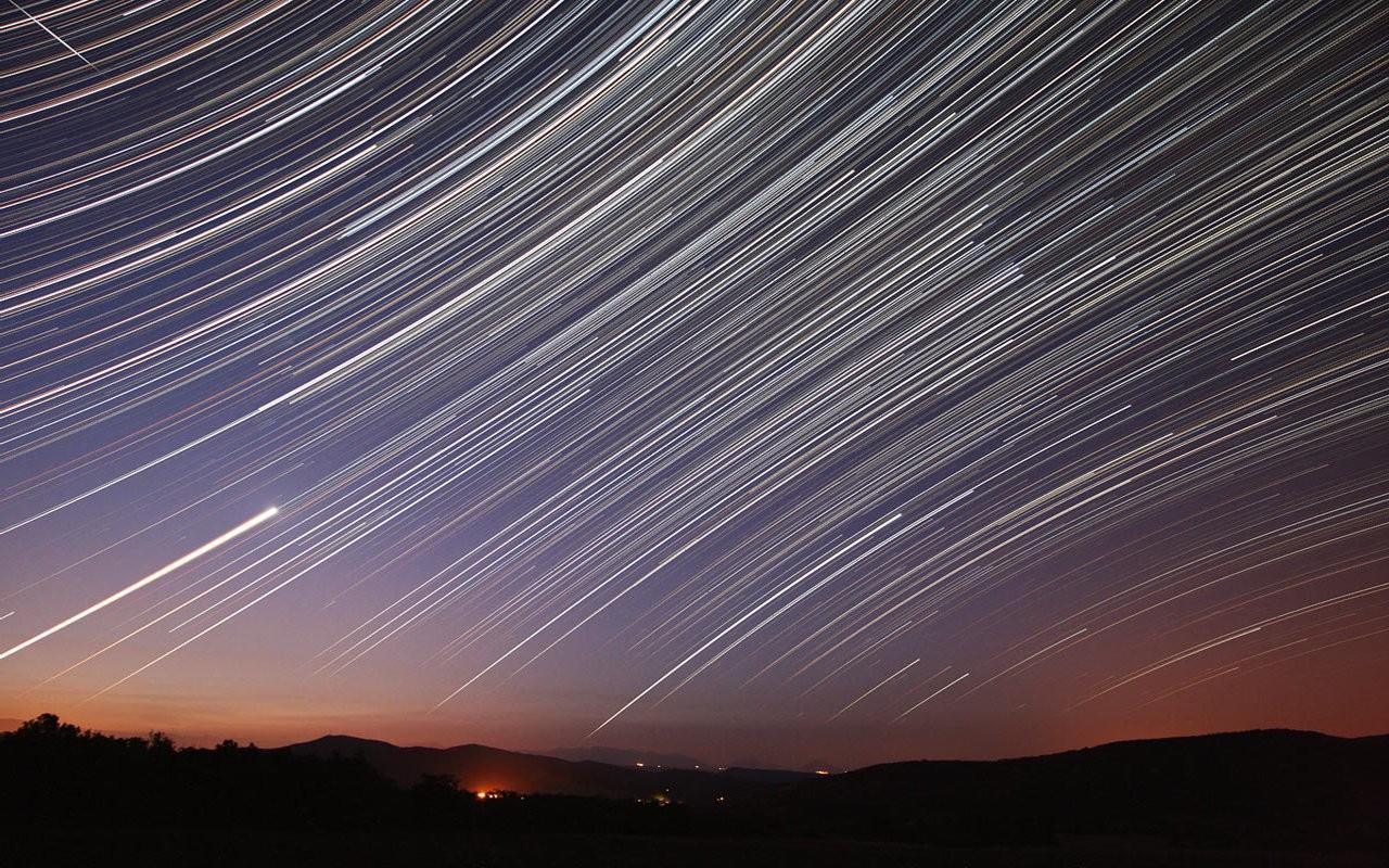 небо фотографировать на длинной выдержке