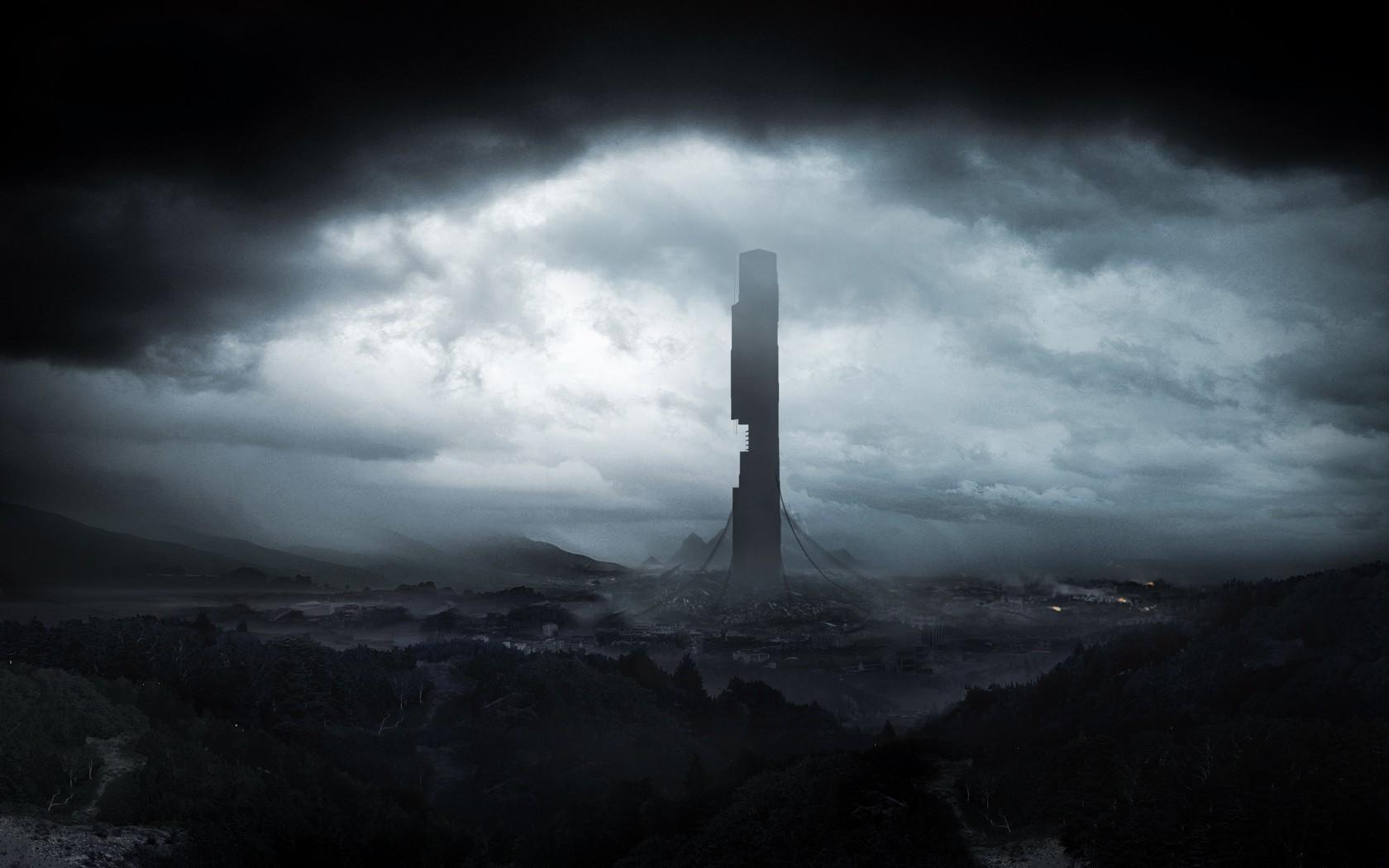 wallpaper : night, sky, snow, storm, tower, mist, wind, half life