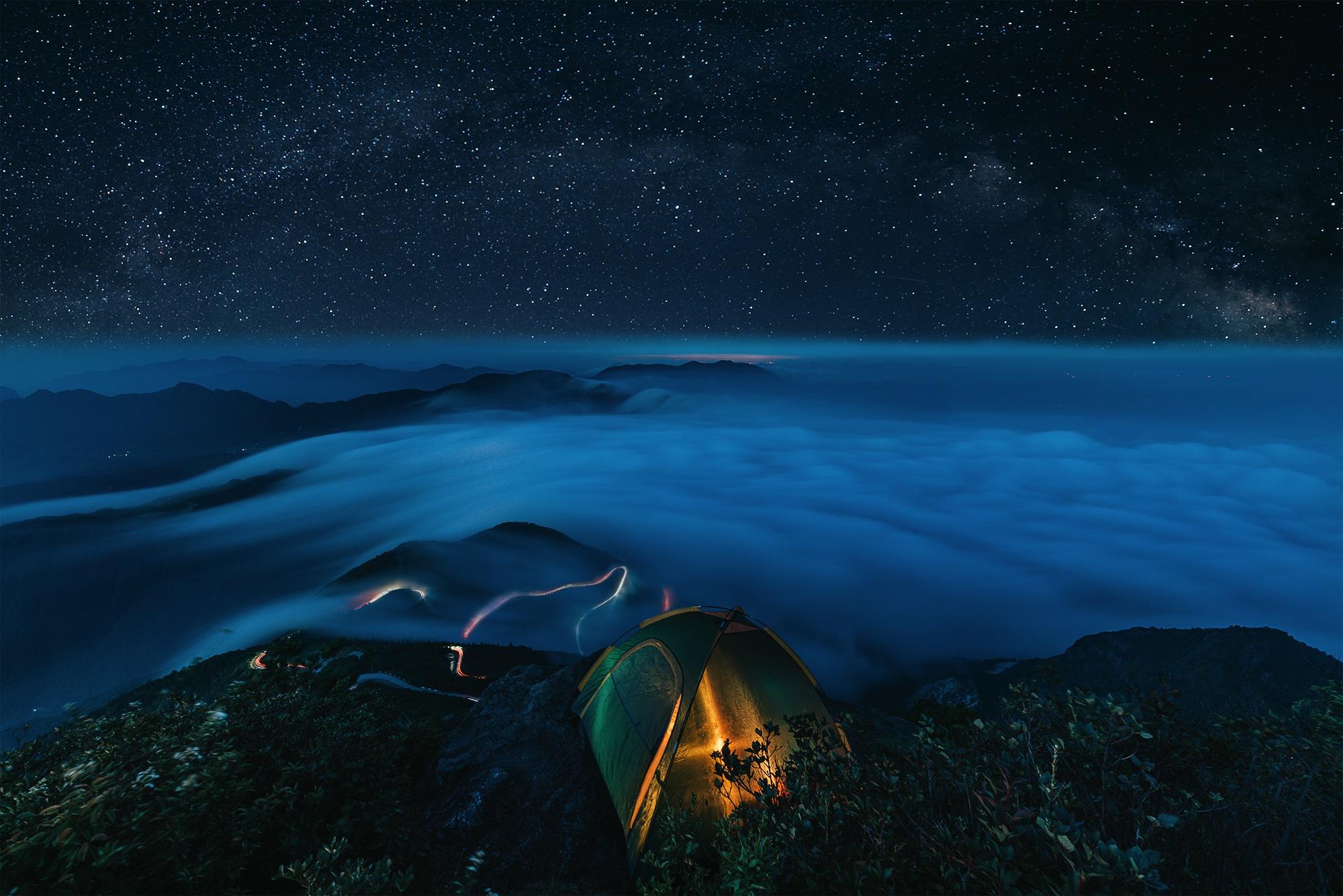 デスクトップ壁紙 夜空 テント 自然 星 屋外 風景 2000x1335