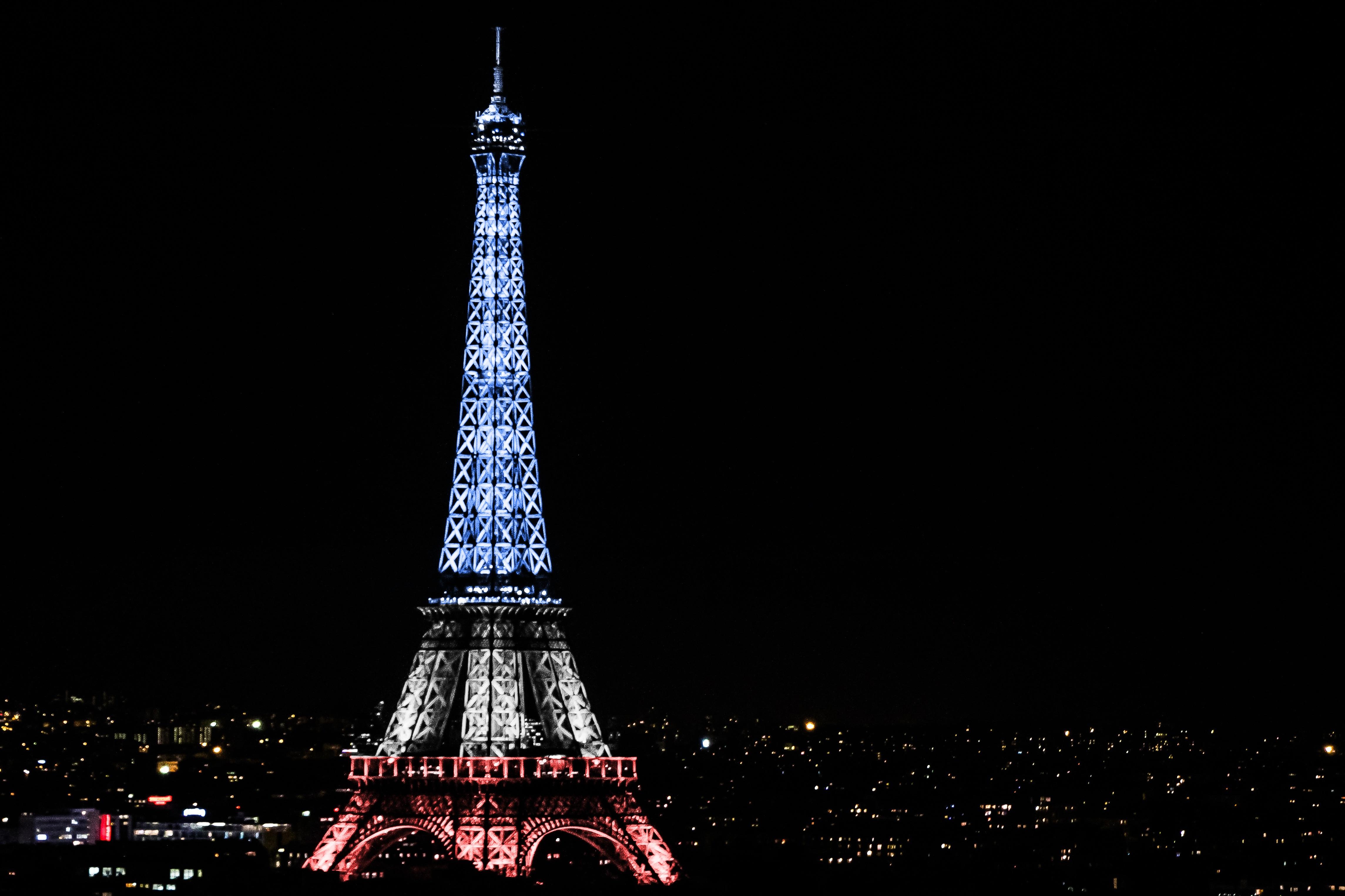 wallpaper : night, skyline, tower, christmas tree, france, paris