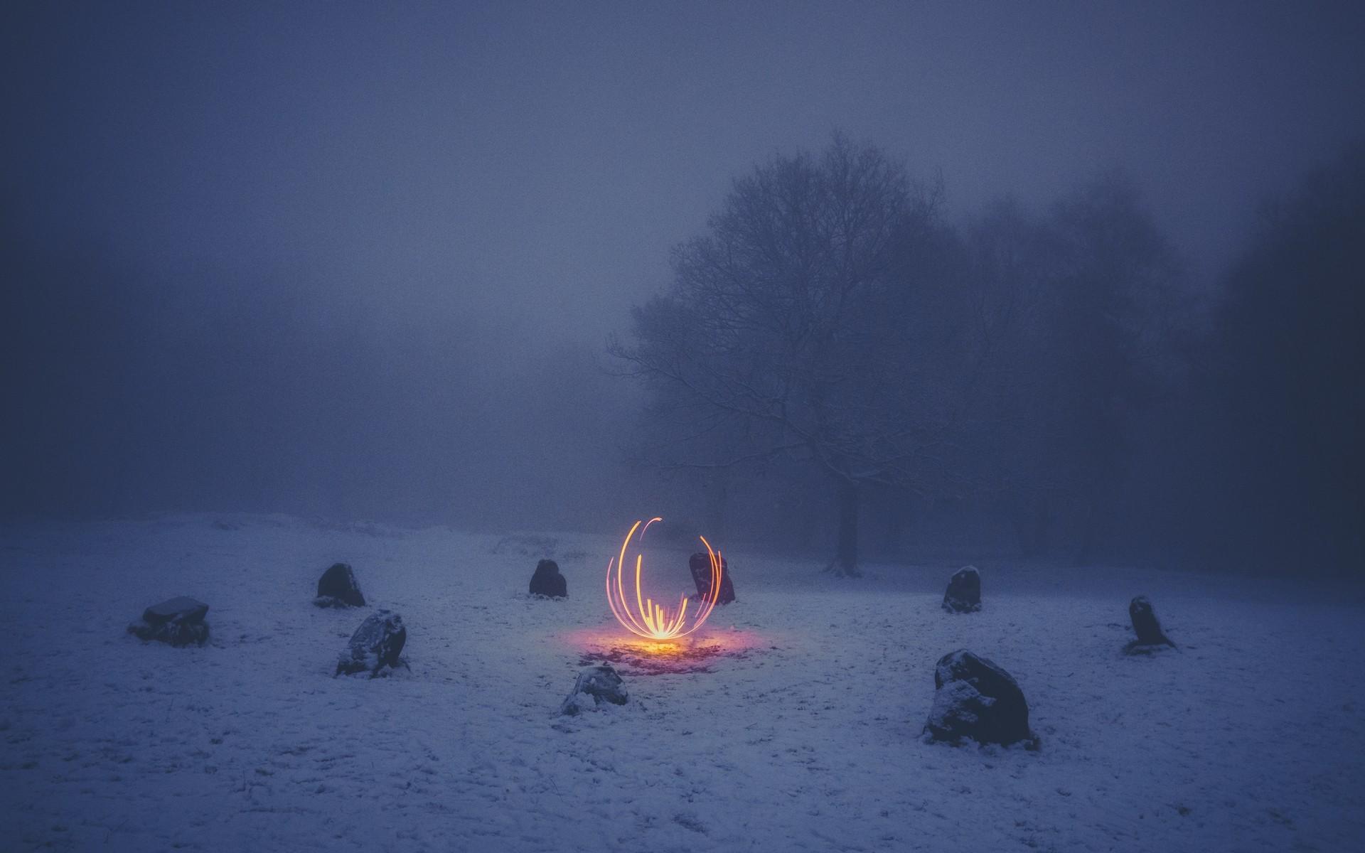 Огни в тумане картинки
