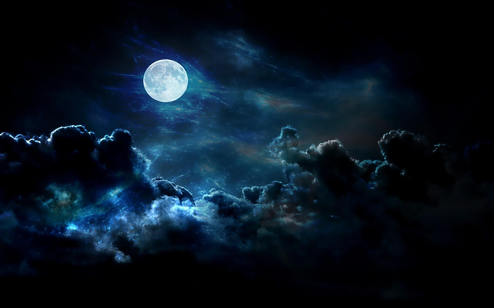 таком картинки луна облака ночью статье