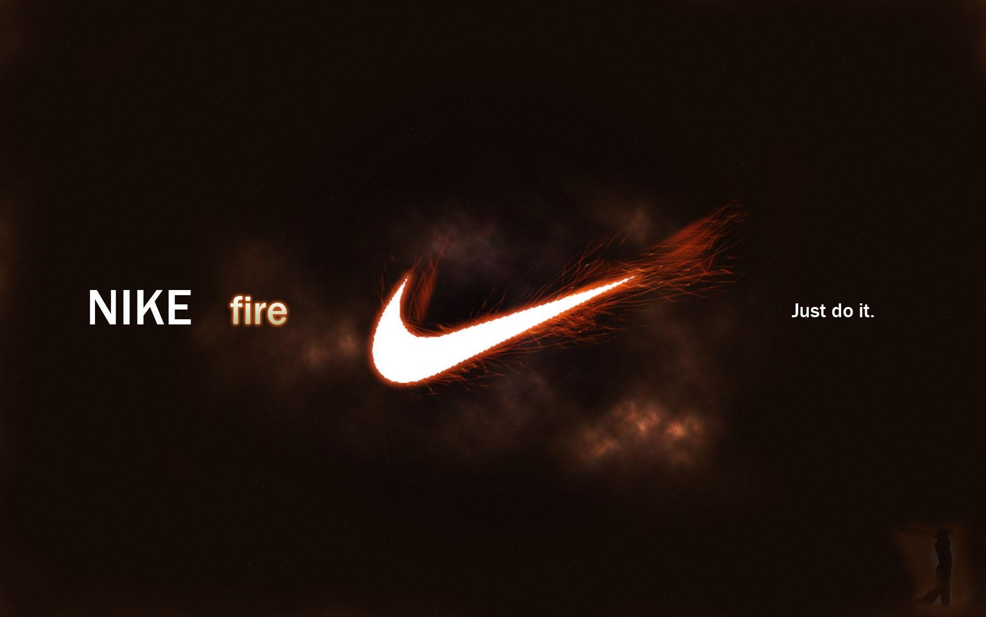 Wallpaper Nike Fire Logo Sports Brand 1920x1202 Goodfon