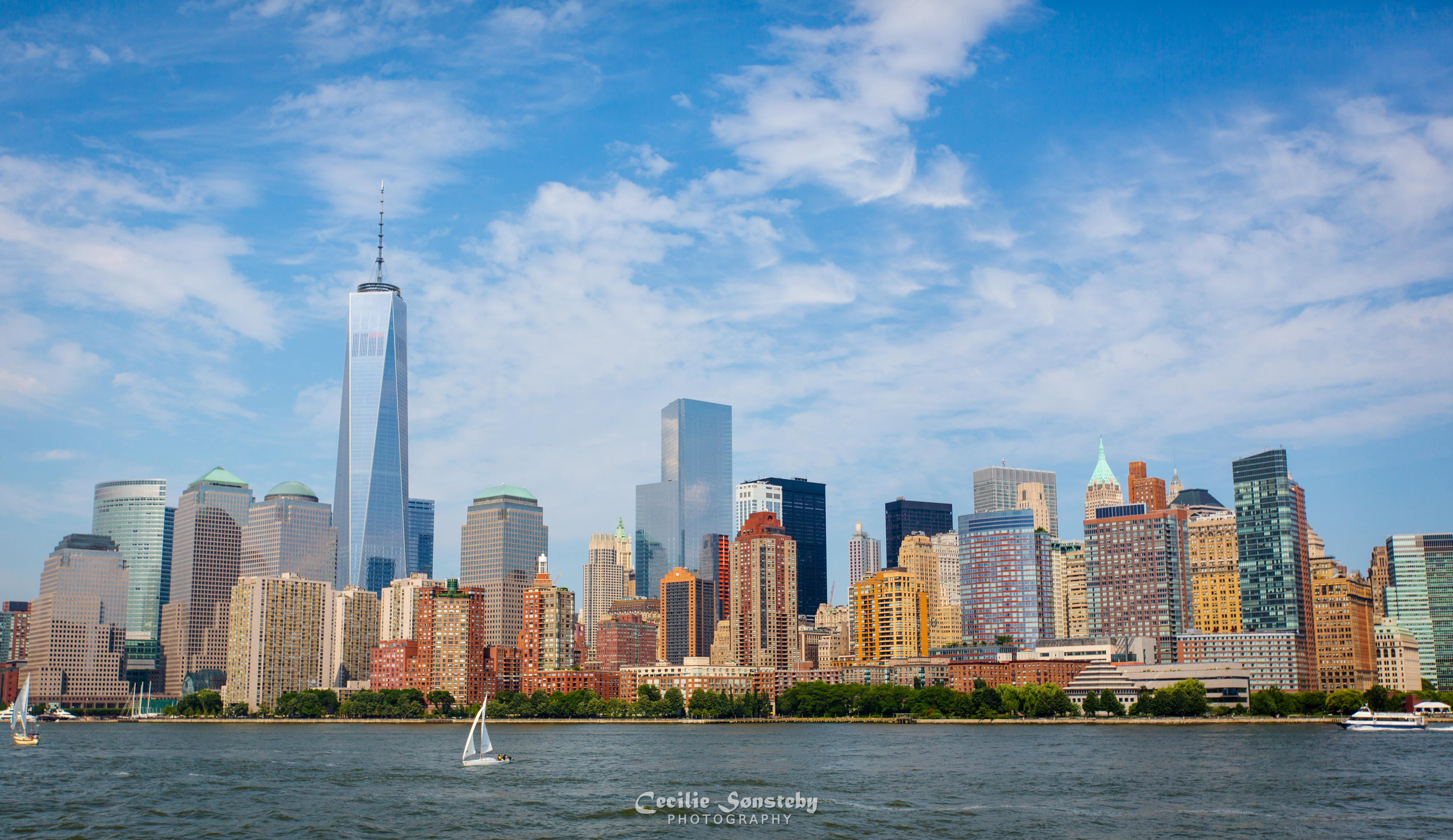 Wallpaper Nyc Windows Summer Sky Newyork Building Skyline