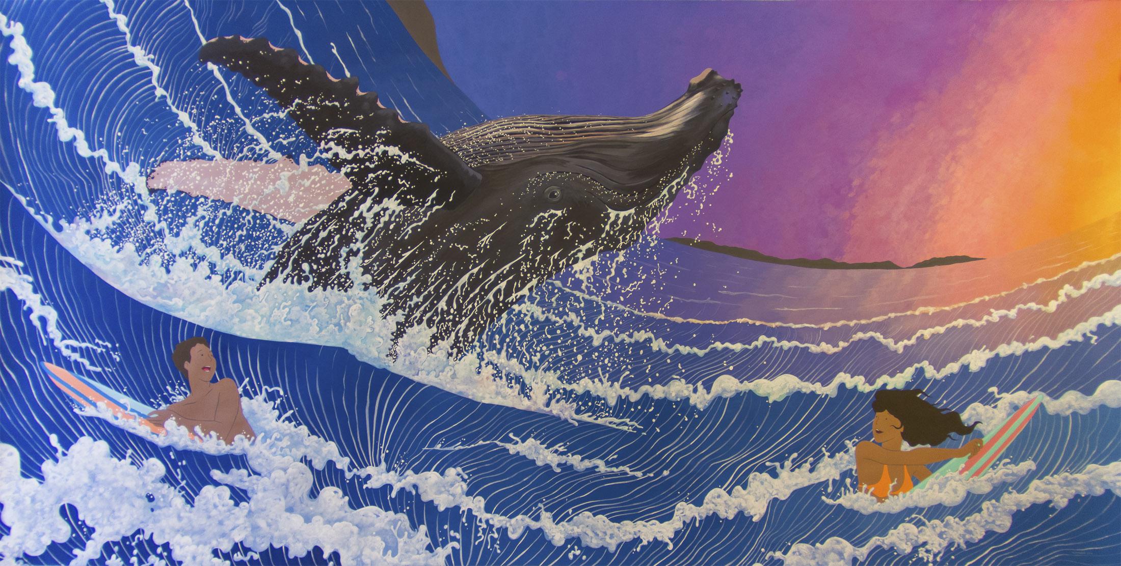 Wallpaper : ocean, ART, nature, animal, painting, acrylic