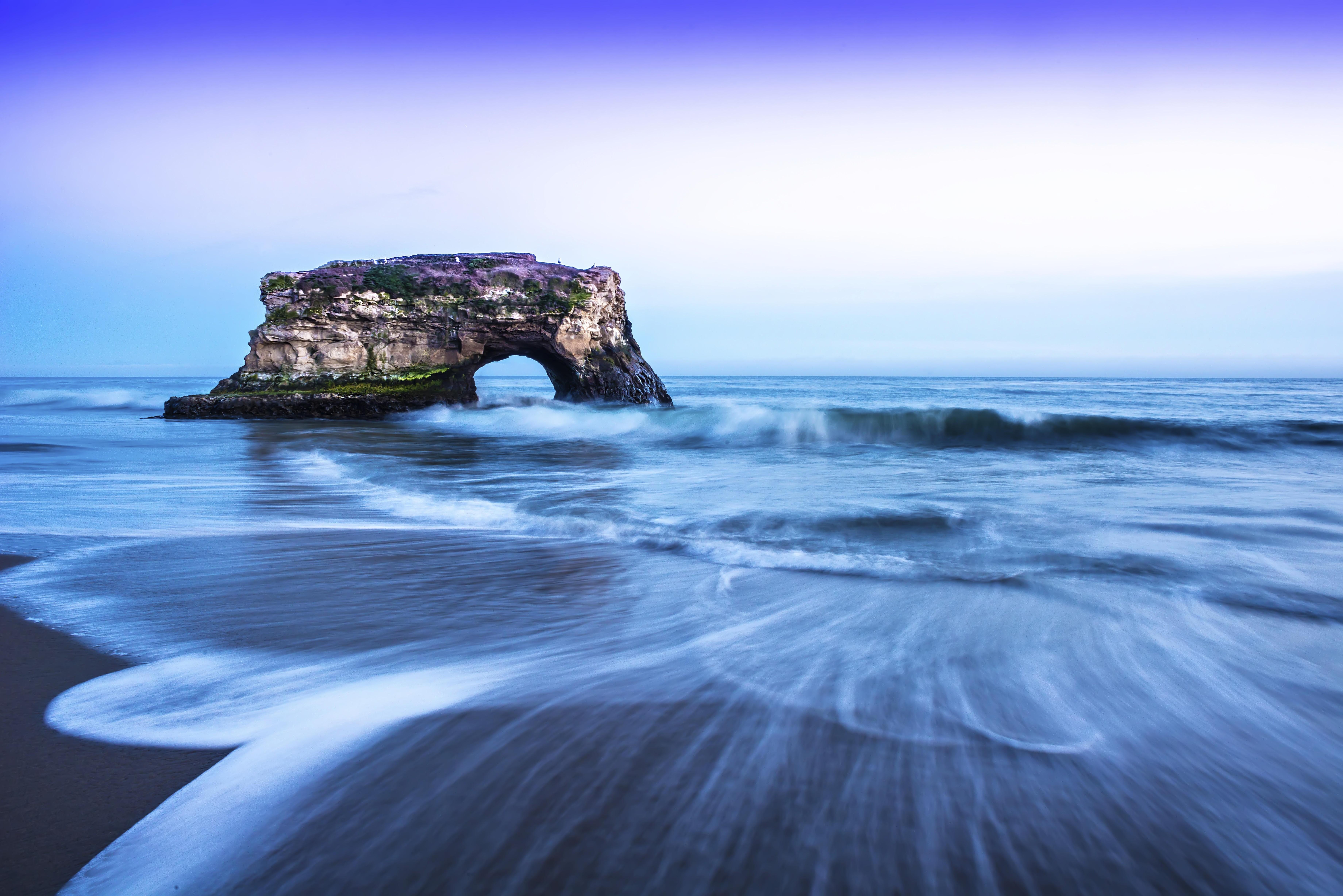デスクトップ壁紙 海洋 カリフォルニア 日没 サンタクルーズ パシフィック ナチュラルブリッジステートビーチ 7360x4912 デスクトップ壁紙 Wallhere