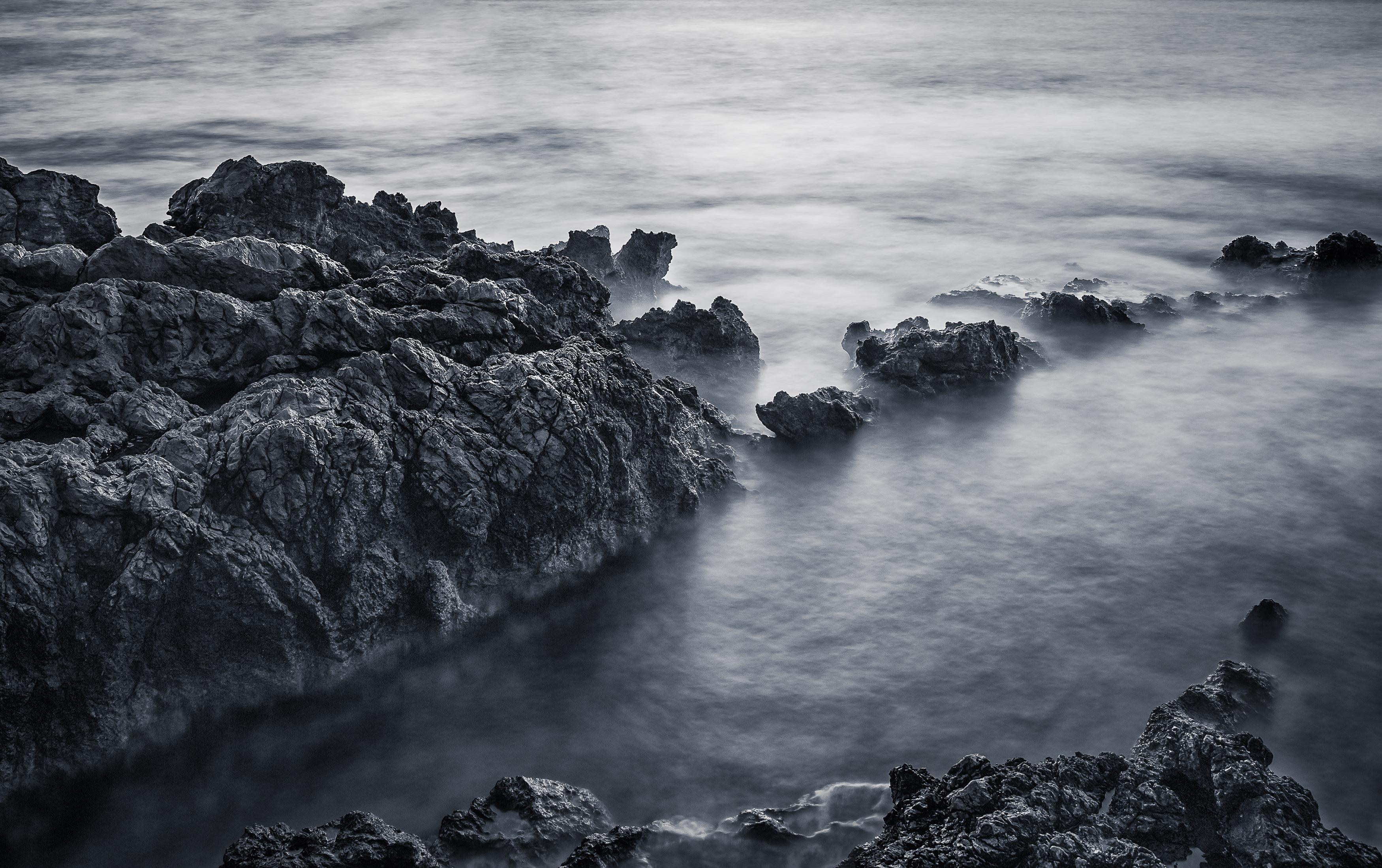 Fondos de pantalla : Oceano, larga exposición, ligero, Blanco y ...