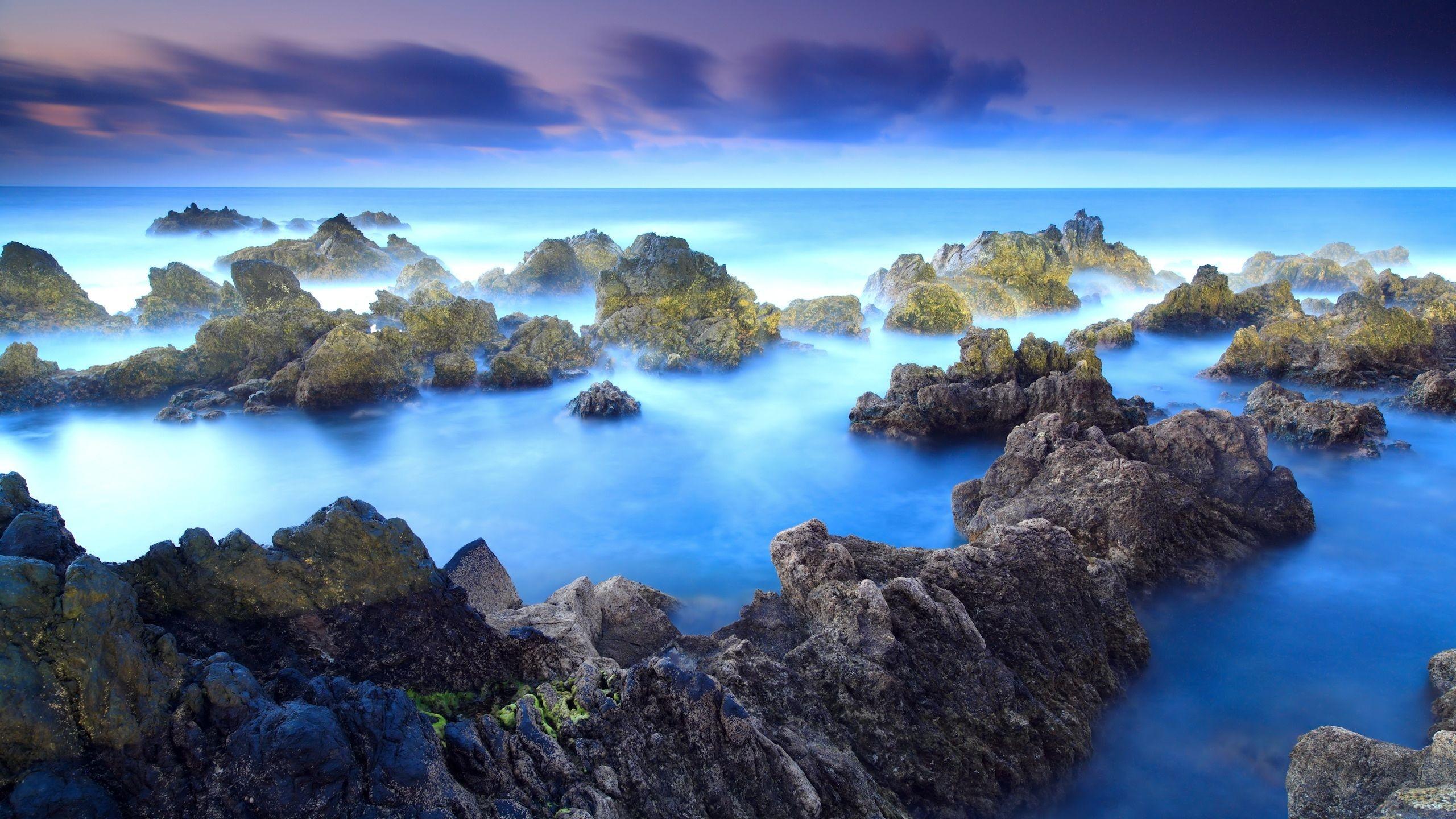 Wallpaper Lautan Batuan Langit Indah 2560x1440 Wallhaven 1028890 Hd Wallpapers Wallhere